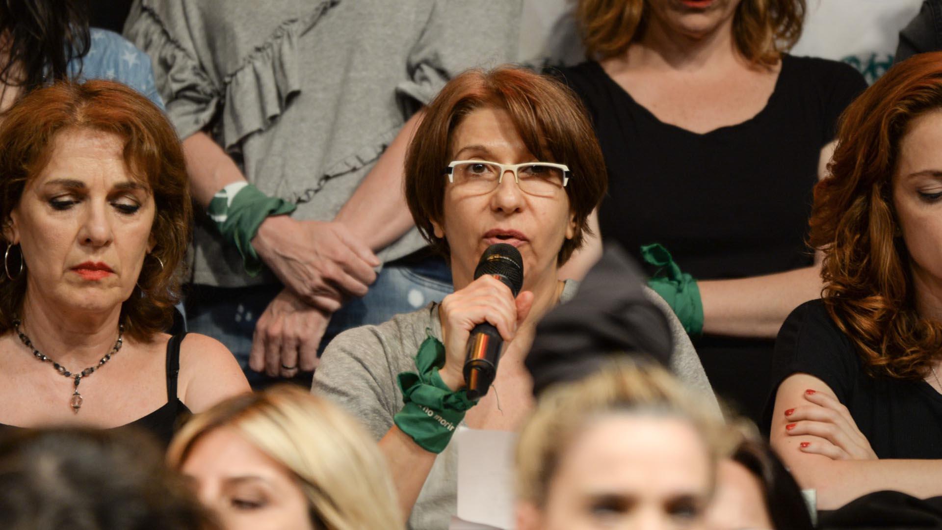 Alejandra Flechner, otra de las actrices que leyó parte del comunicado