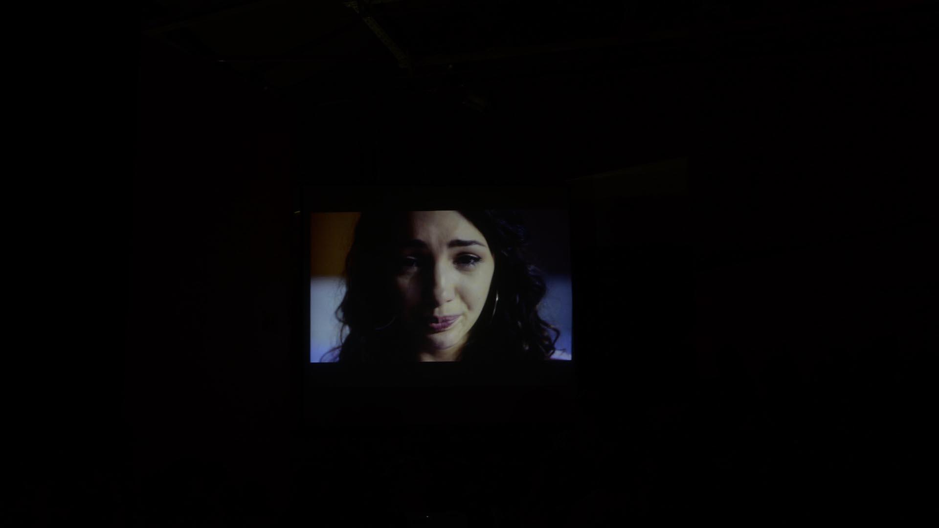 Durante el encuentro se proyectó el crudo relato de la actriz en un video