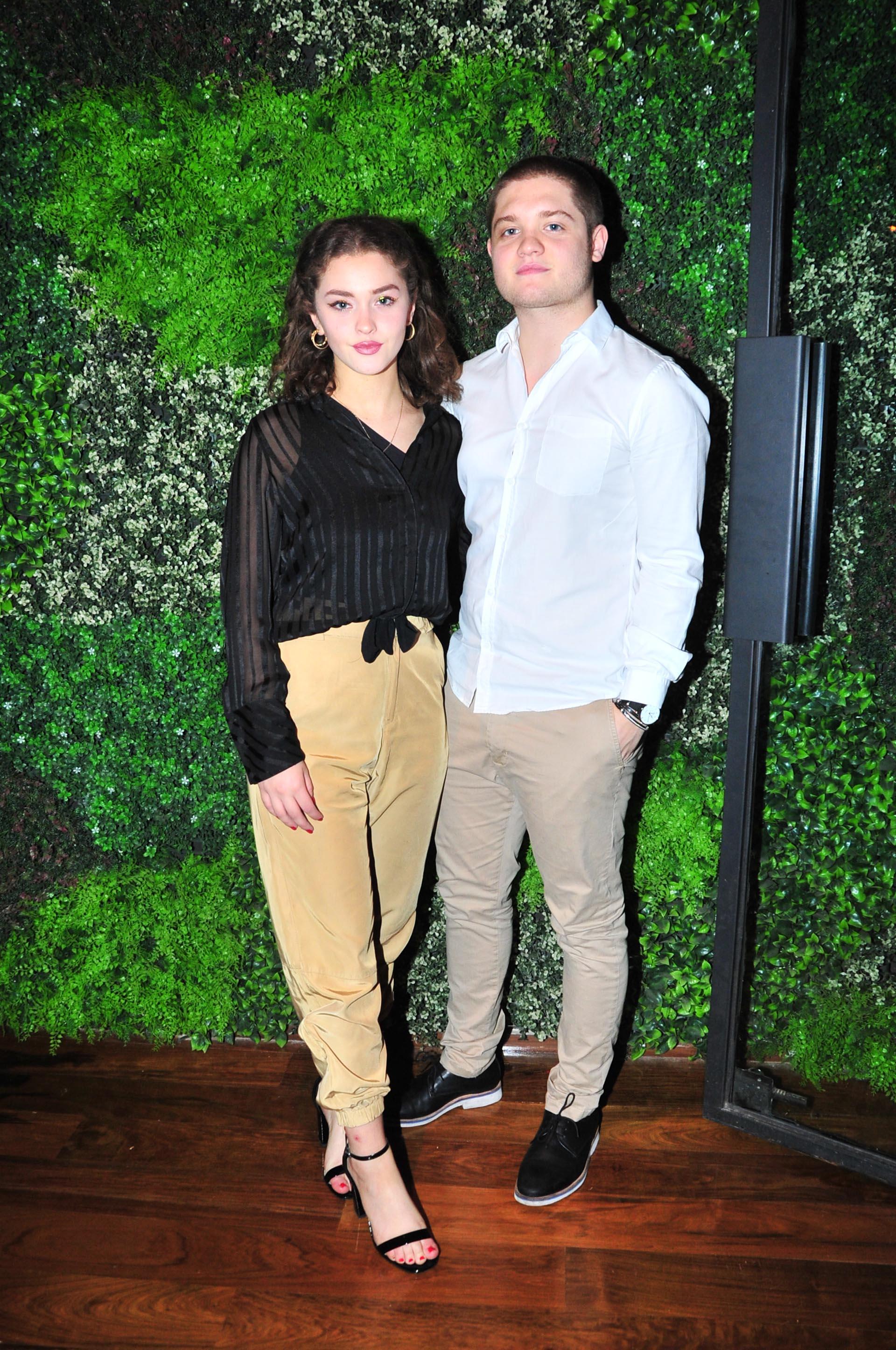 Toto Kirzner y su novia, Minerva Casero