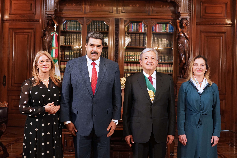 Nicolás Maduro asistió como invitado a la ceremonia en la que López Obrador asumió como presidente (Foto: Presidencia de México)