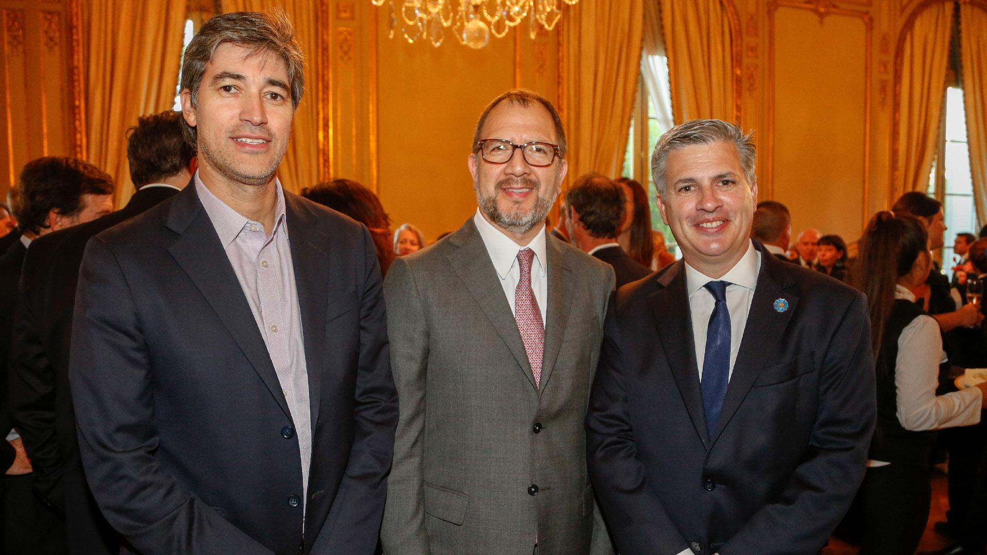 Adrián Pérez, Fabián Perechodnik y Marcelo Scaglione