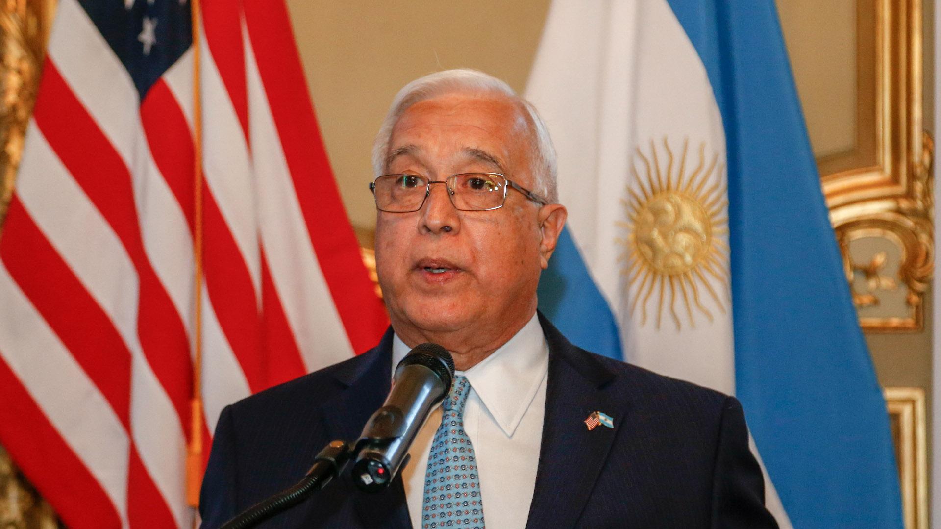 El discurso del embajador de los Estados Unidos en la Argentina, Edward C. Prado