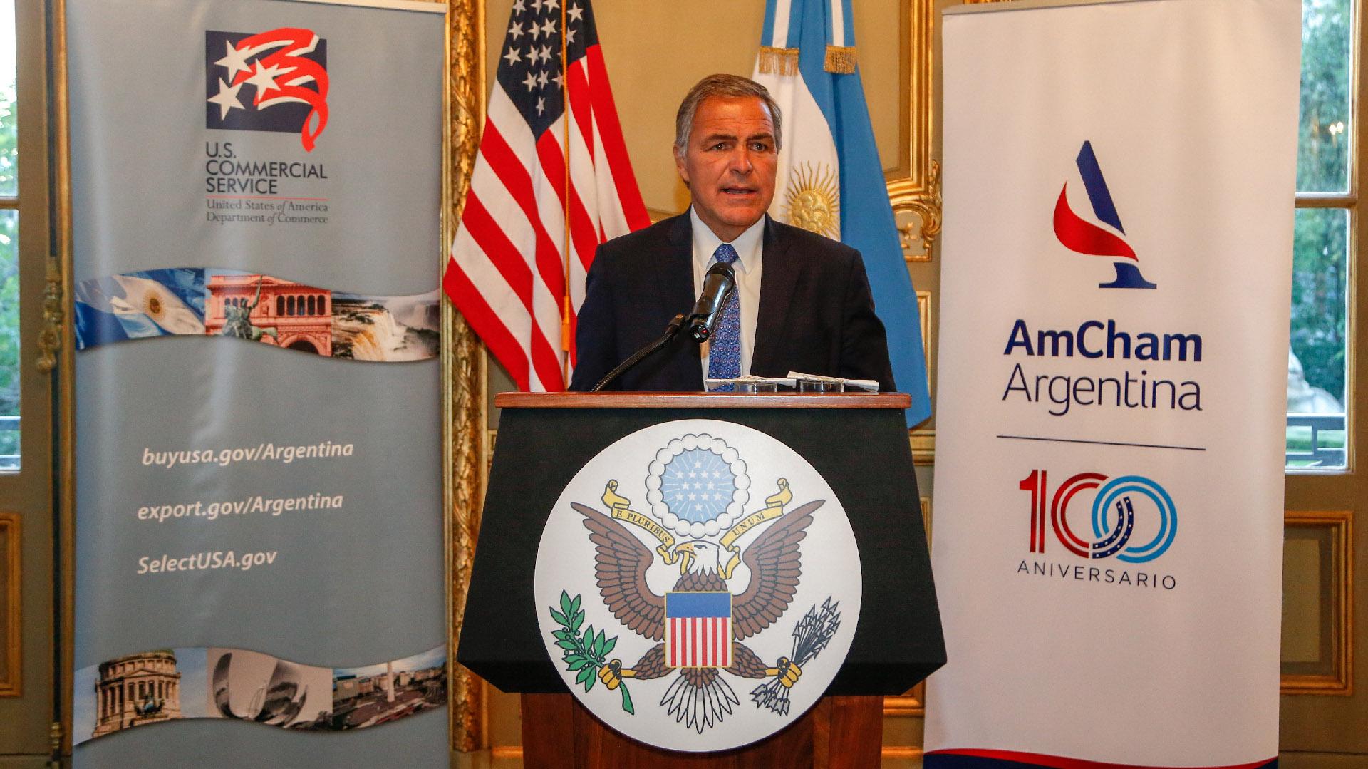 El presidente saliente de AmCham Argentina, Manuel Aguirre (director de Desarrollo de Negocios para América Latina de Jacobs)