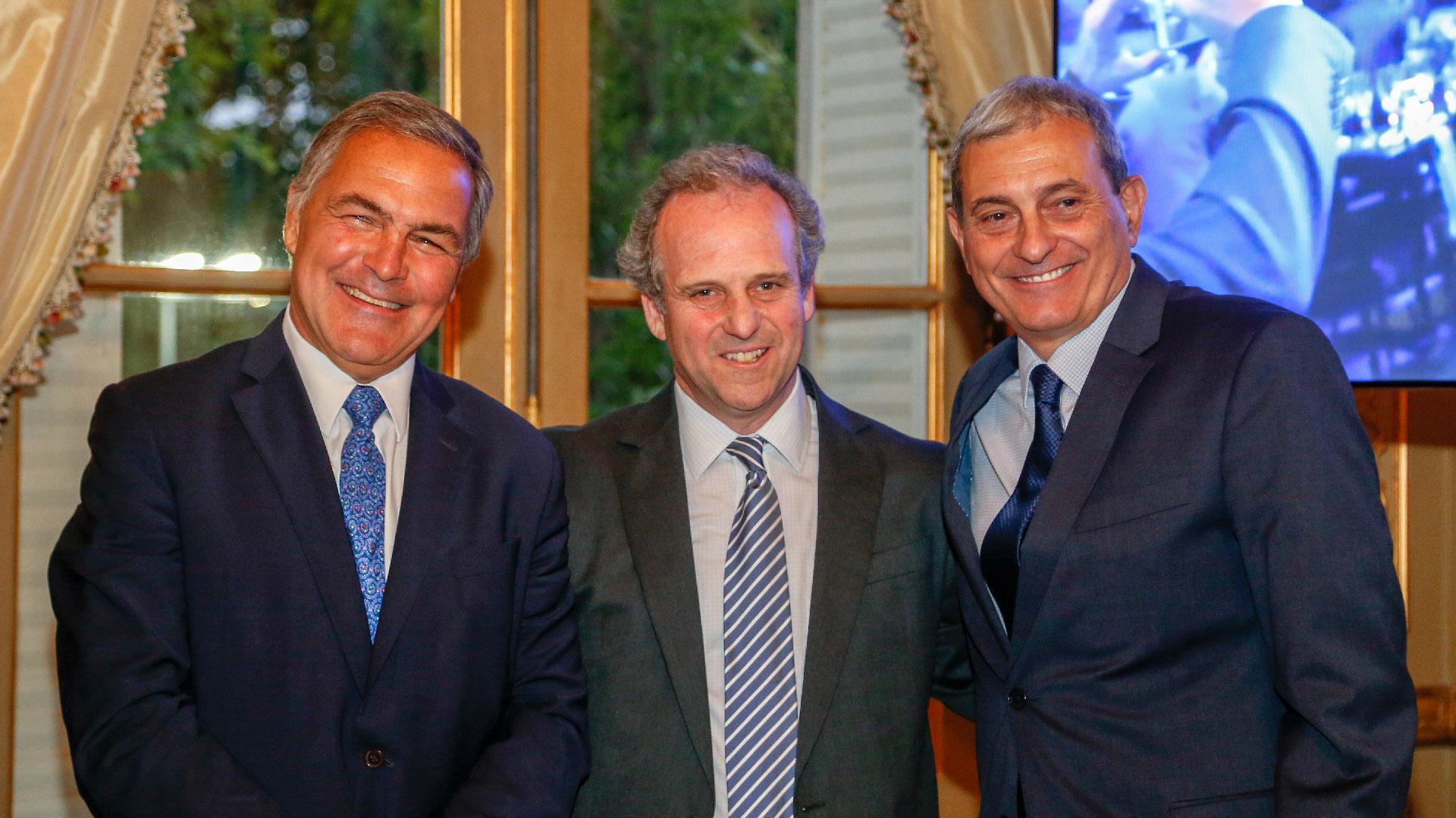 Manuel Aguirre, Roberto Alexander y Alejandro Díaz
