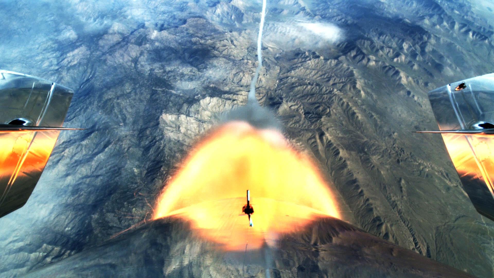 El avión supersónico llegó al espacio, marcando un hito para el turismo espacial