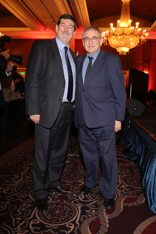 Ariel Gelblung, representante para América Latina del Centro Simon Wiesenthal, y Shimon T. Samuels, director de Relaciones Internacionales del Centro Simon Wiesenthal