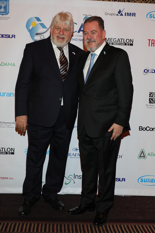 Adrián Werthein y Mario Montoto. Durante el encuentro se realizó la entrega de las distinciones Israel Innovation Awards 2018, Israel Leadership Awards 2018, y de placas de reconocimiento