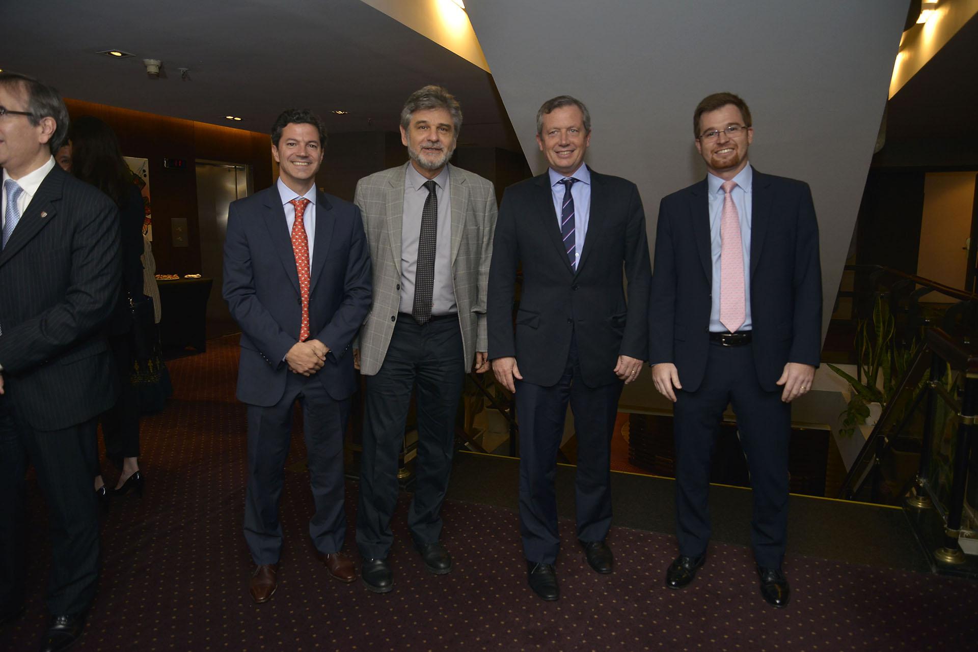 Los diputados Luciano Laspina, Daniel Filmus, Emilio Monzó y Nicolás Massot