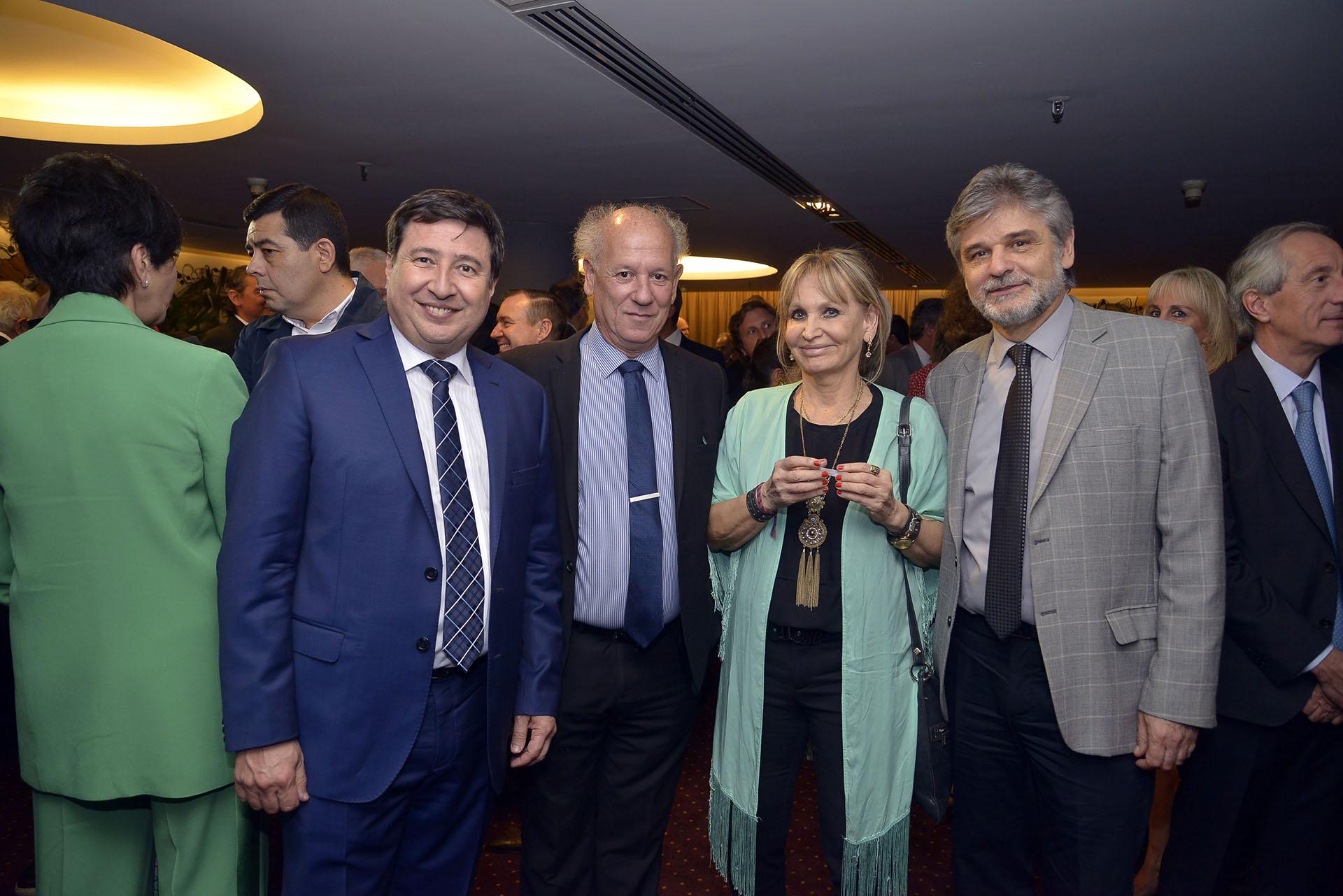 Daniel Arroyo; el periodista Pablo Mendelevich; Nely Povedano; Daniel Filmus