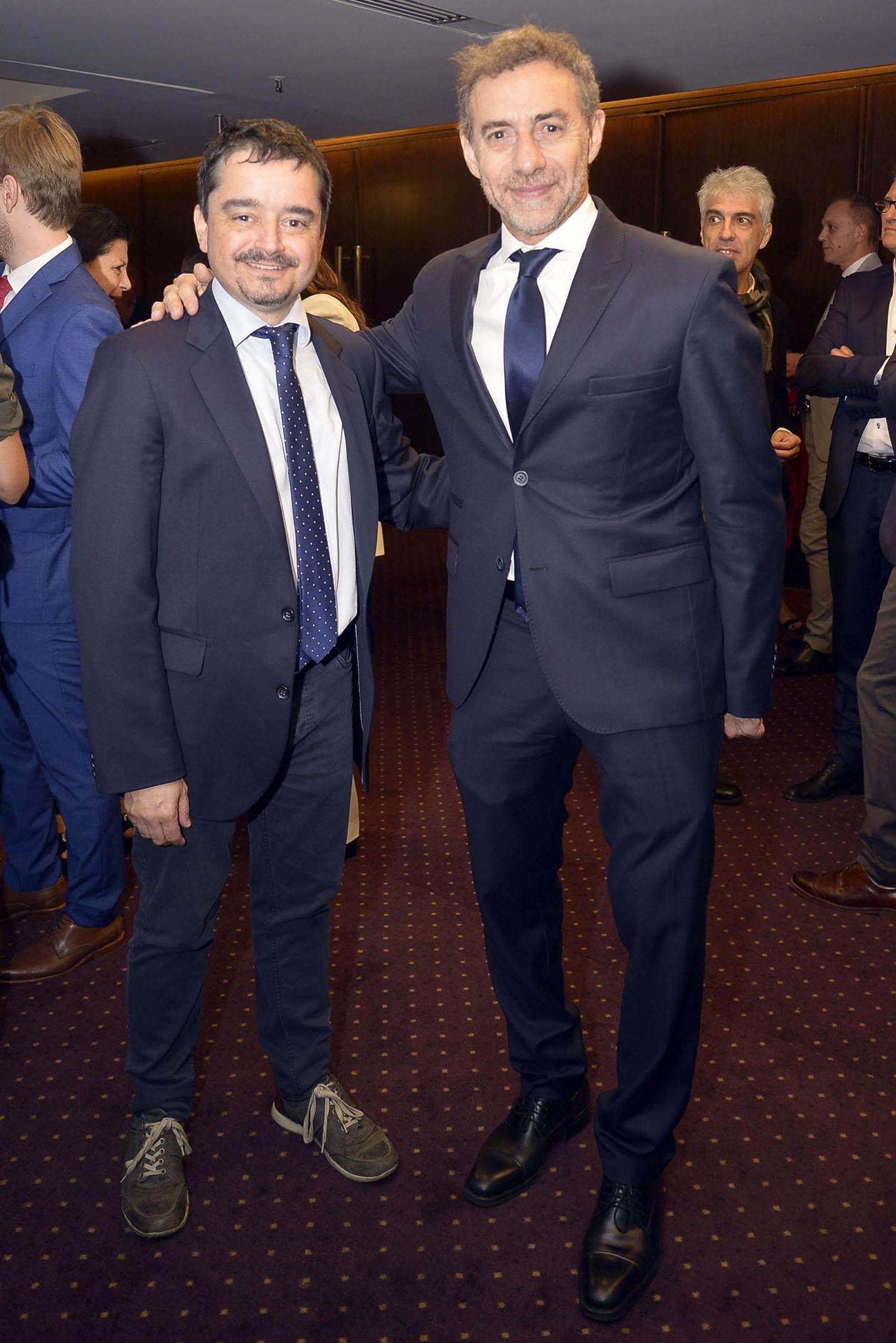 Los periodistas José Crettaz y Luis Majul