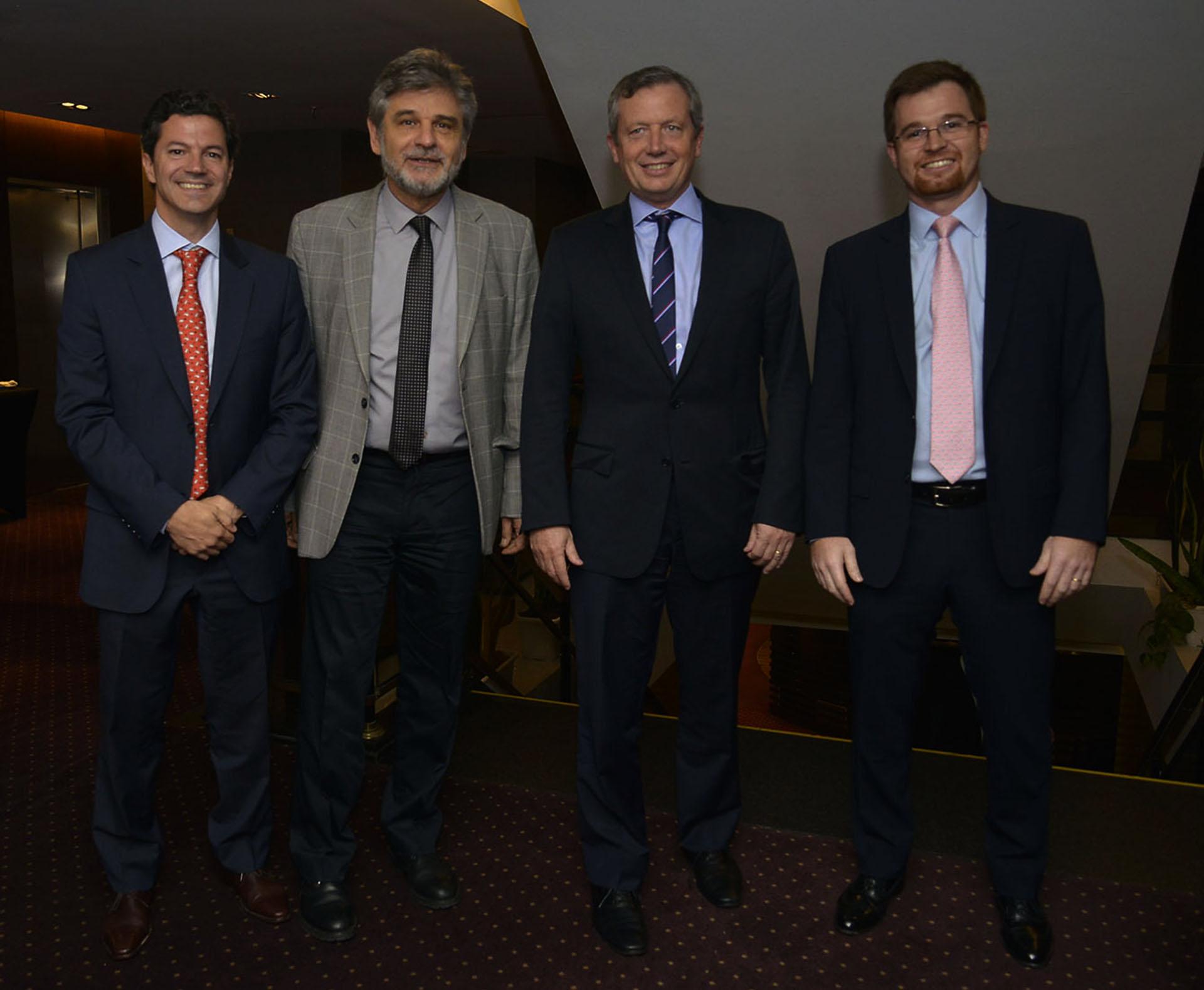 Los diputados nacionales Luciano Laspina, Daniel Filmus, Emilio Monzó y Nicolás Massot