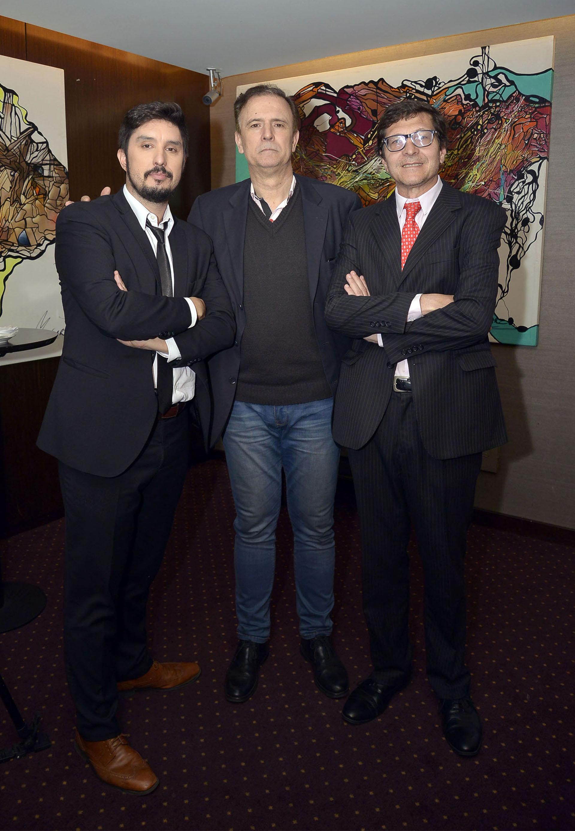 Los periodistas Lucas Morando y Daniel Santoro