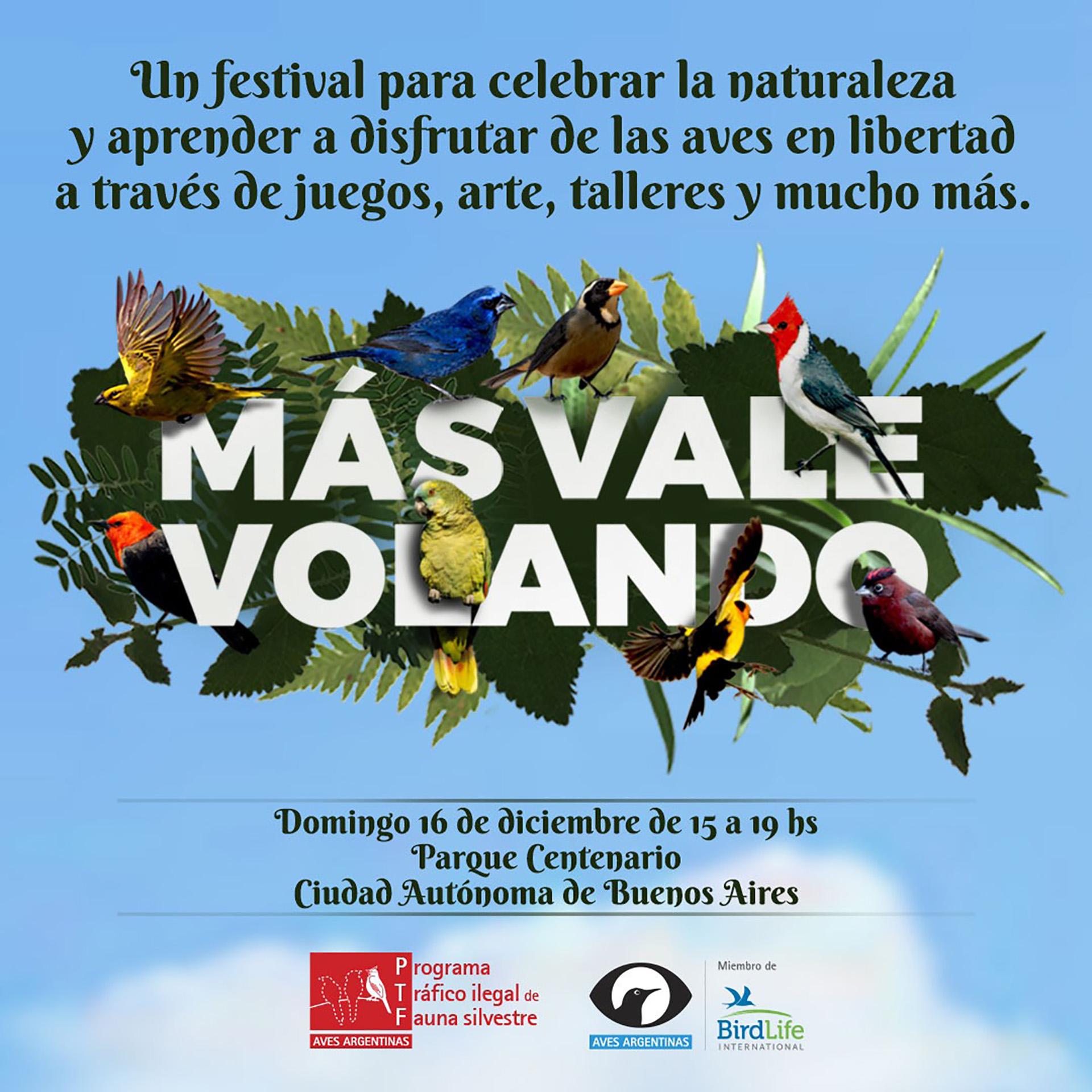 La actividad se realizará este domingo en el barrio porteño de Caballito.