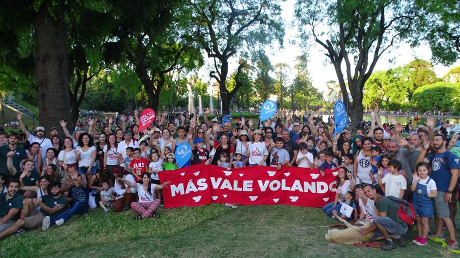 """Una de las ediciones anteriores del festival """"Más vale volando"""" en Parque Centenario."""