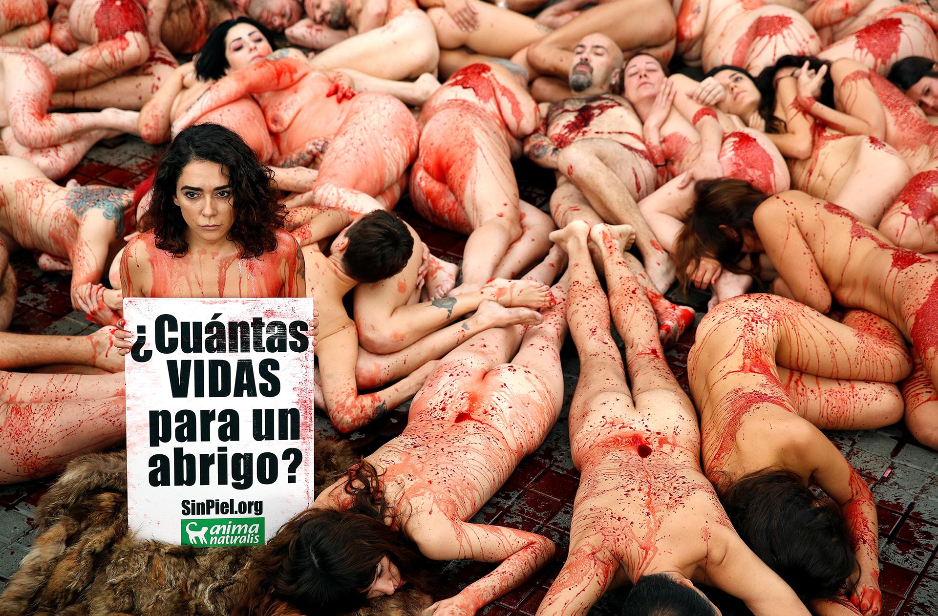 """""""Damos voz a las víctimas de la industria peletera"""", aseguró la organización"""