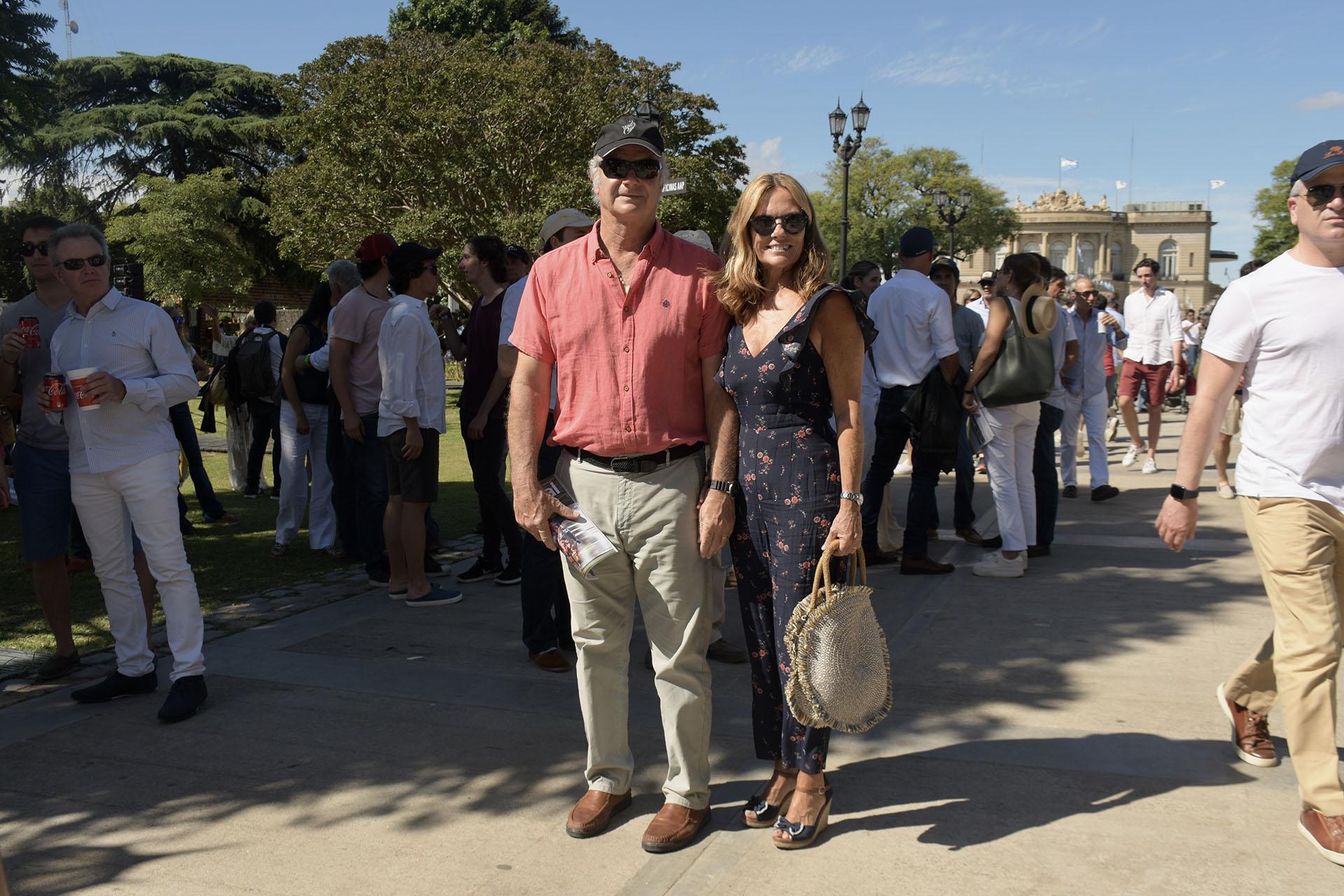 María Eugenia Fernández Rousse y su marido Horacio Laprida