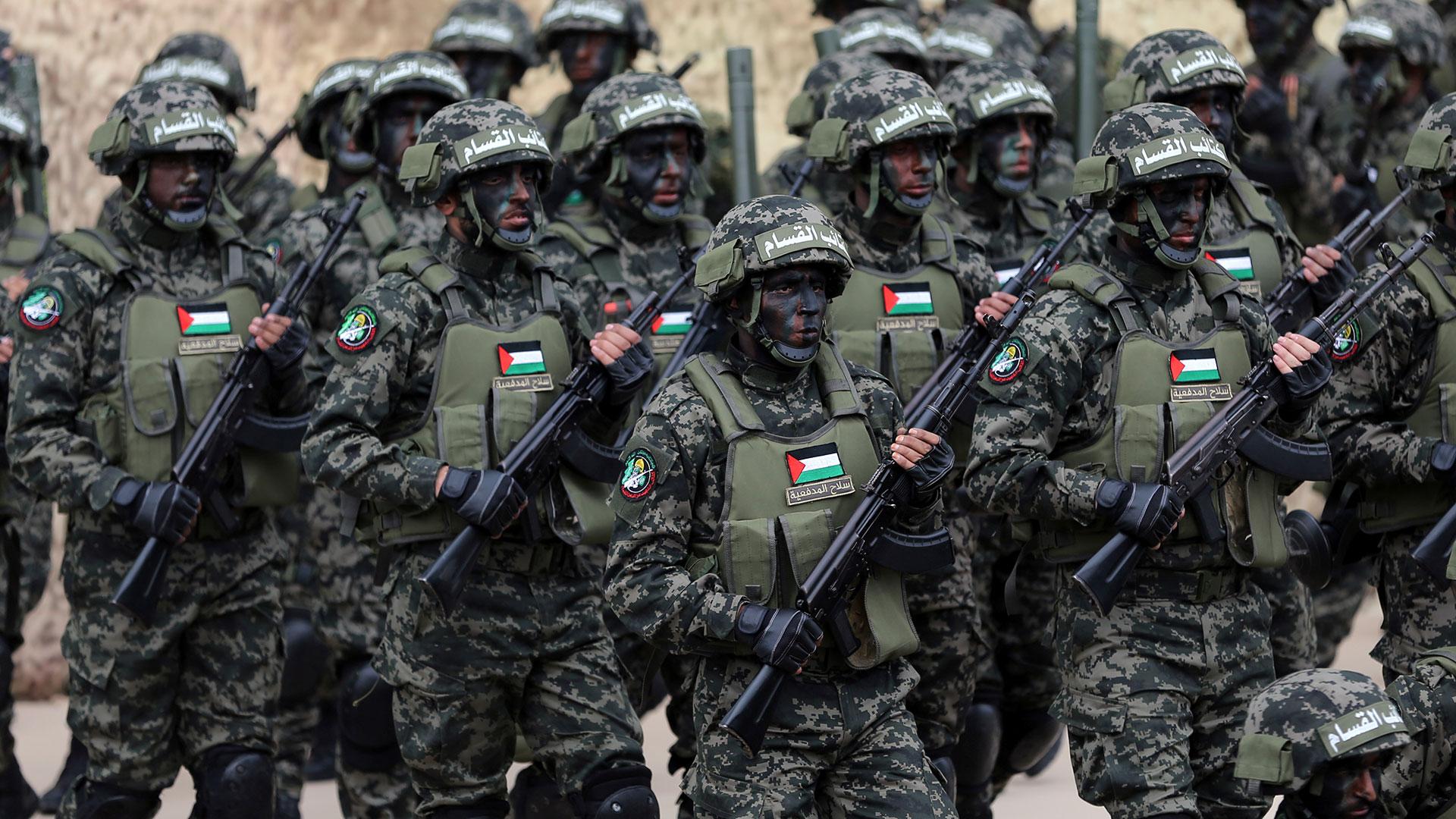 Militantes del grupo terrorista Hamas (Reuters)