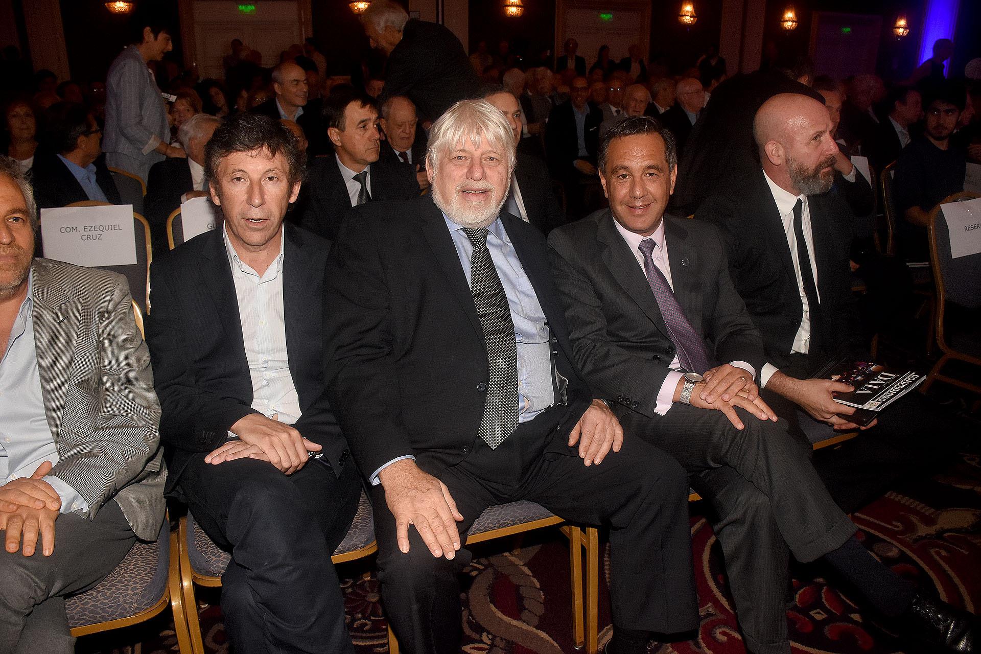 El intendente de San Isidro, Gustavo Posse, junto a Adrián Werthein, Alejandro Finocchiaro y el diputado Waldo Wolff