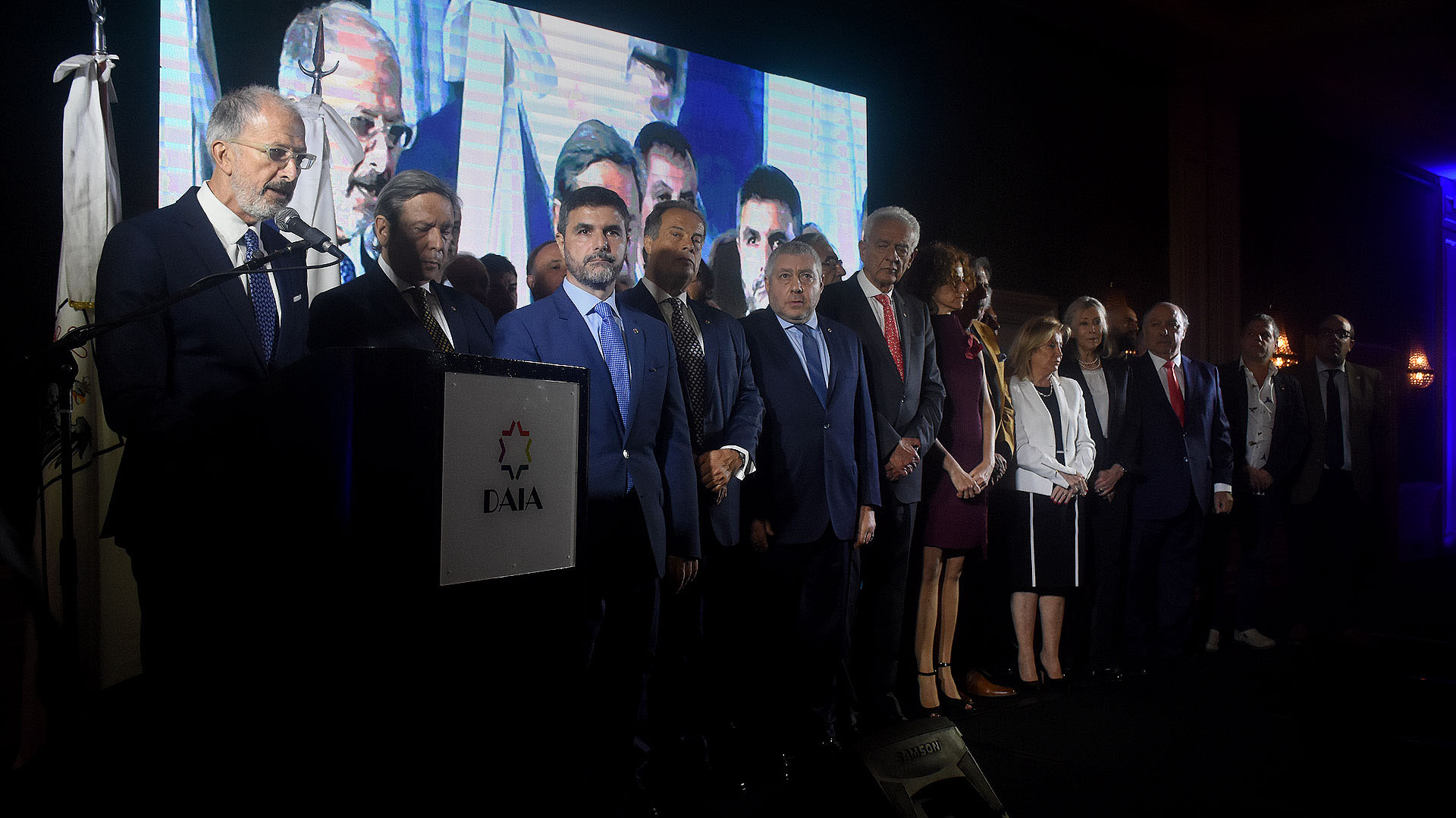 La asunción de las autoridades del consejo directivo 2018-2021, encabezado por el nuevo presidente de la DAIA, Jorge Knoblovits