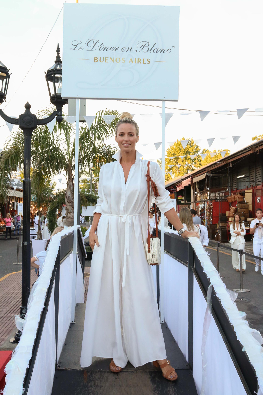 Rocío Guirao Díaz en Diner en Blanc 2018 Buenos Aires