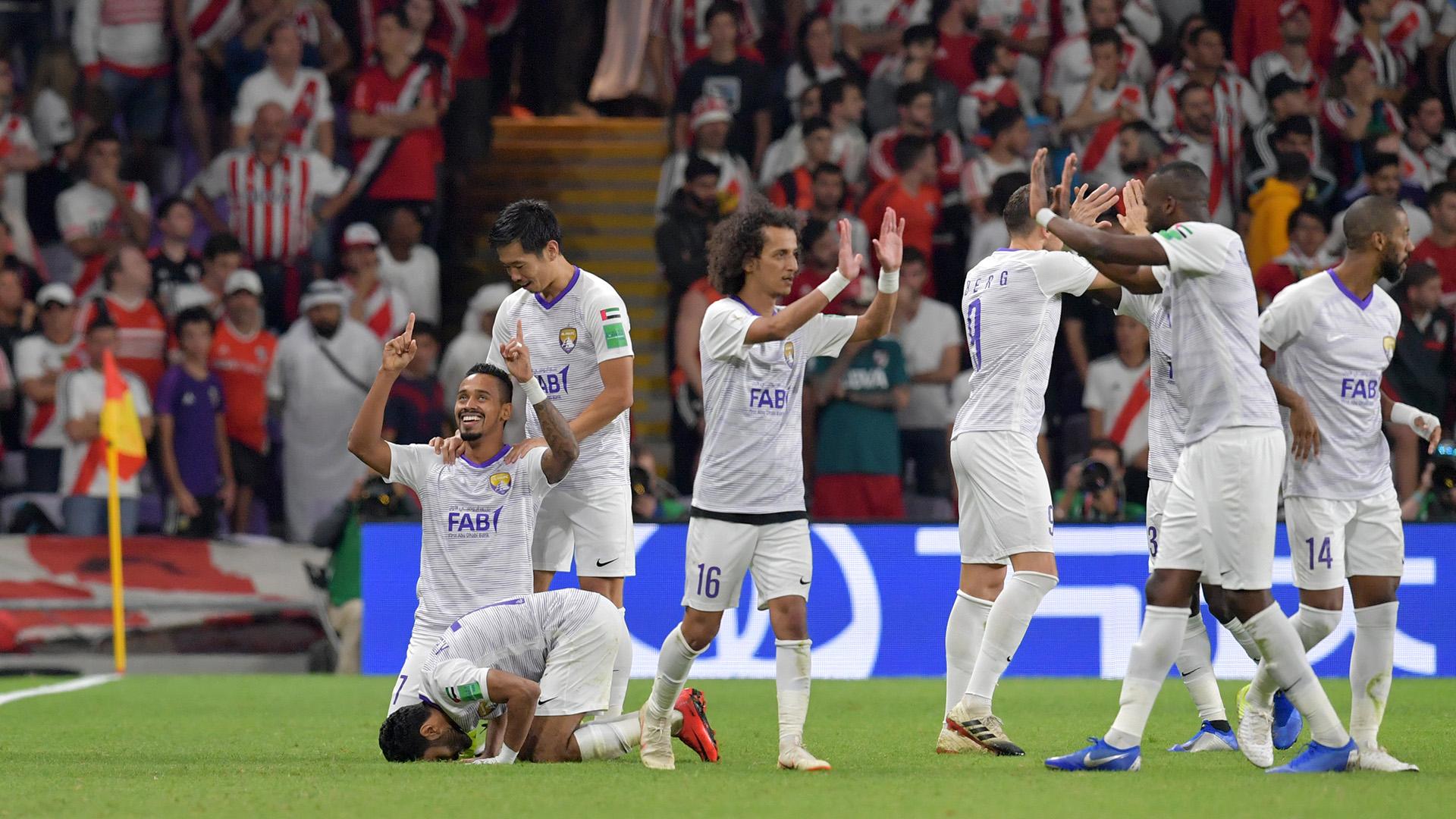 El equipo árabe celebra el empate 2-2 con el que llevaron la serie al alargue