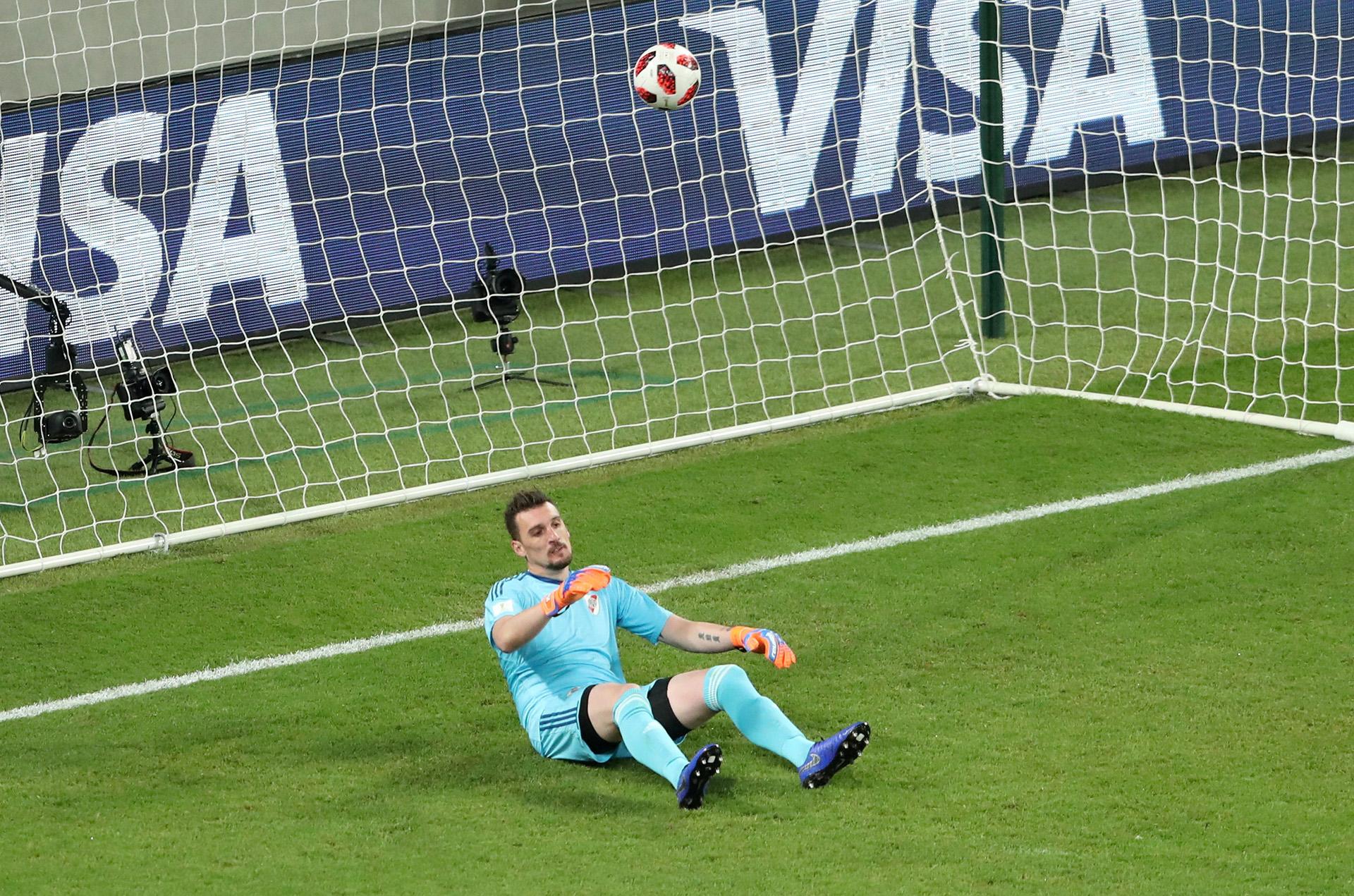 Franco Armani lamenta el segundo gol recibido ante el AlAin