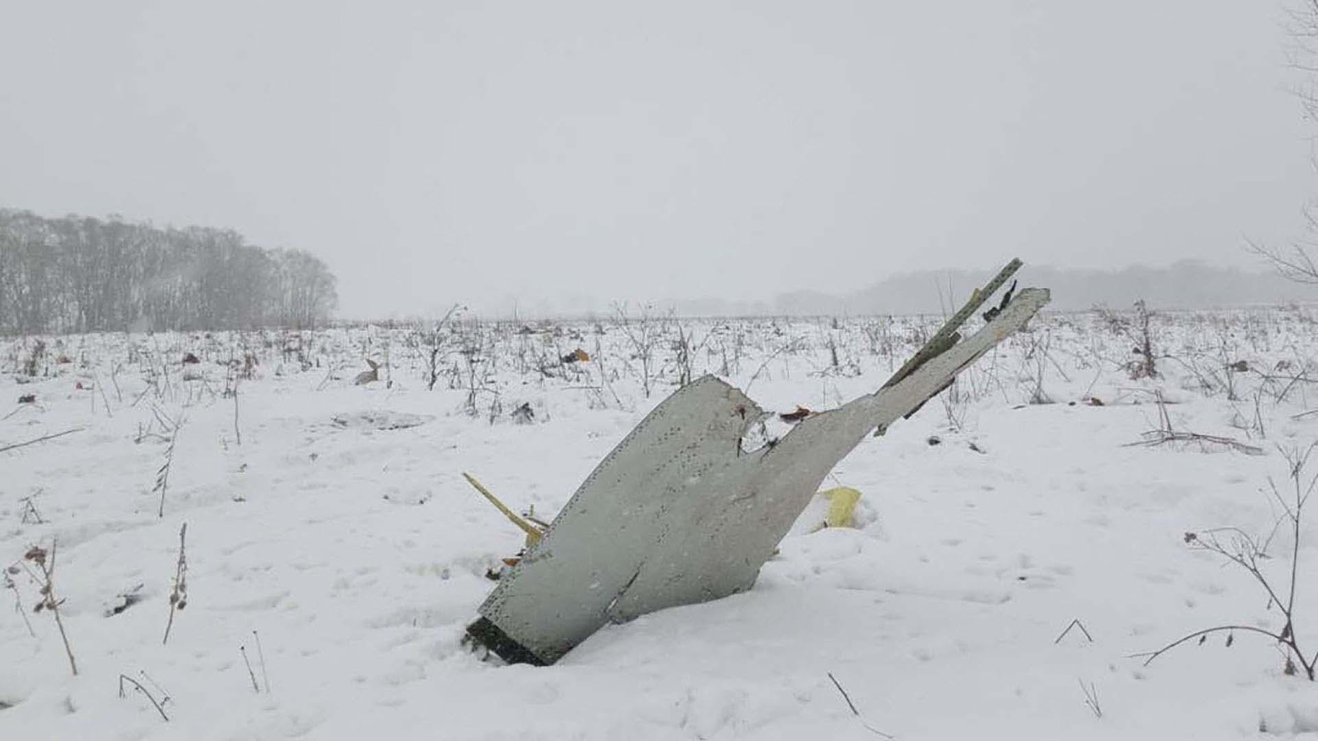 Un avión Antonov AN-148 se estrella después de despegar del aeropuerto de Domodedovo de Moscú el 11 de febrero