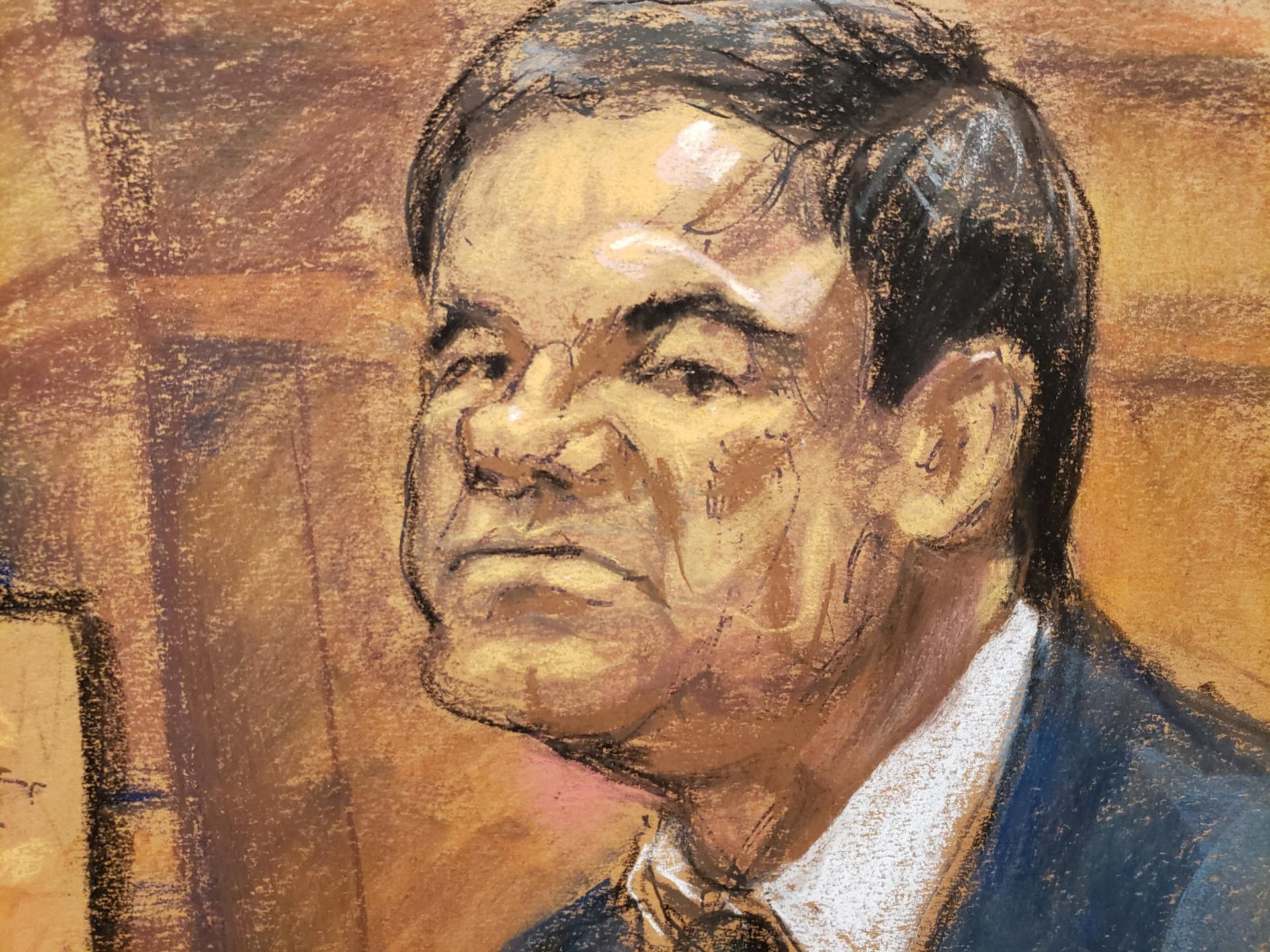 Guzmán no dejaba de ver al testigo (Foto: REUTERS/Jane Rosenberg)