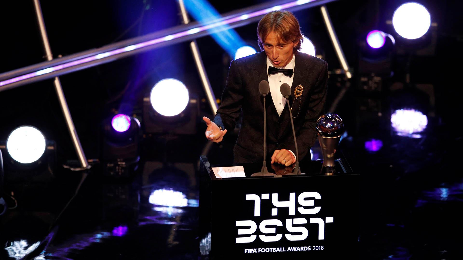 Luka Modric ganó el premio The Best como mejor jugador del mundo y terminó con el reinado de 10 años de Cristiano Ronaldo y Lionel Messi el 24 de septiembre
