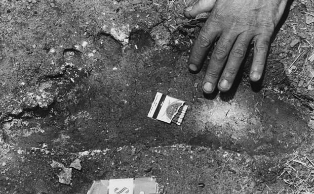 """Una supuesta huella de Pie Grande, parte del archivo del diario """"The Oregonian"""""""