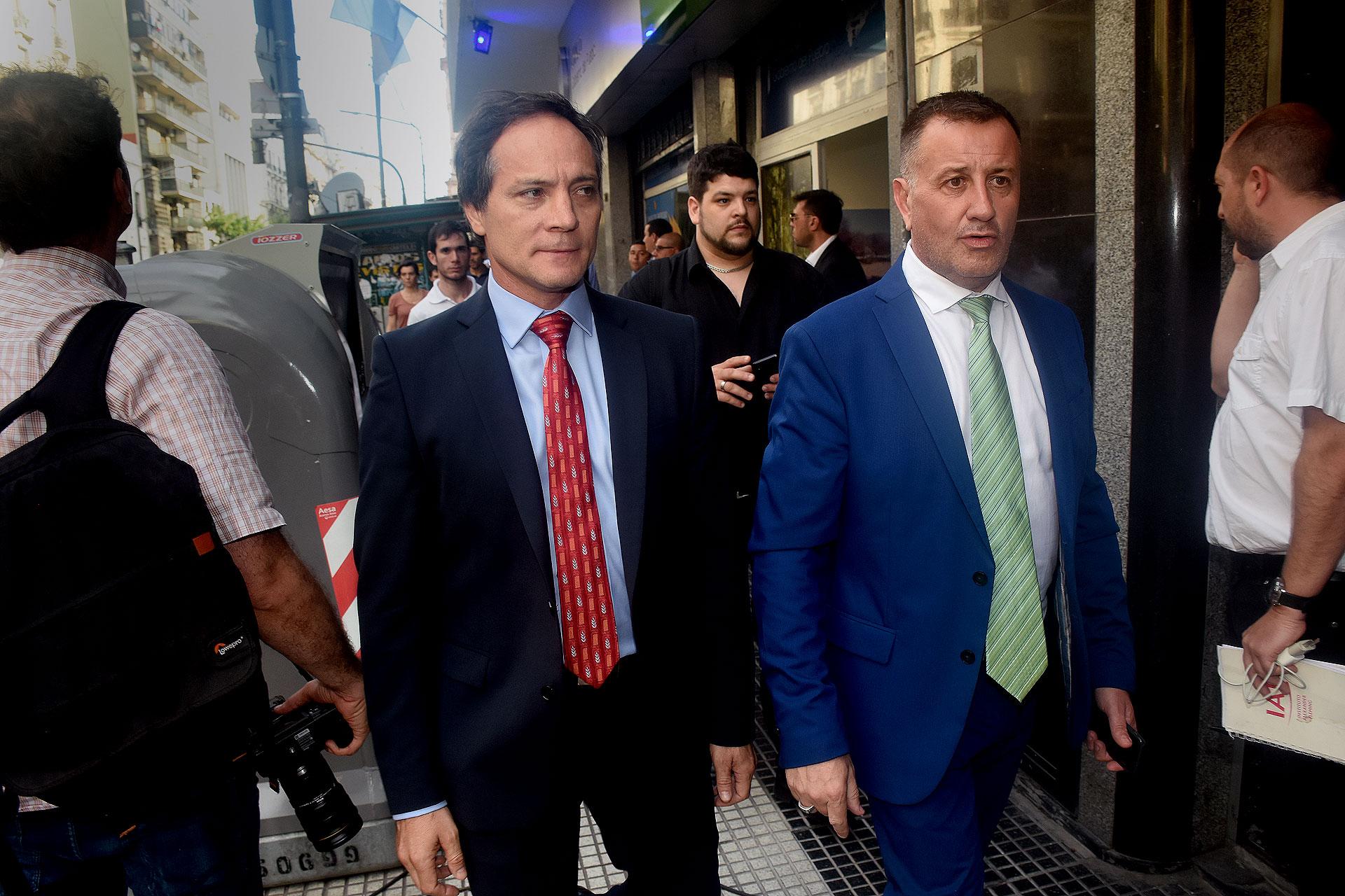 Los senadores Carlos Espínola y Julio Catalán Magni
