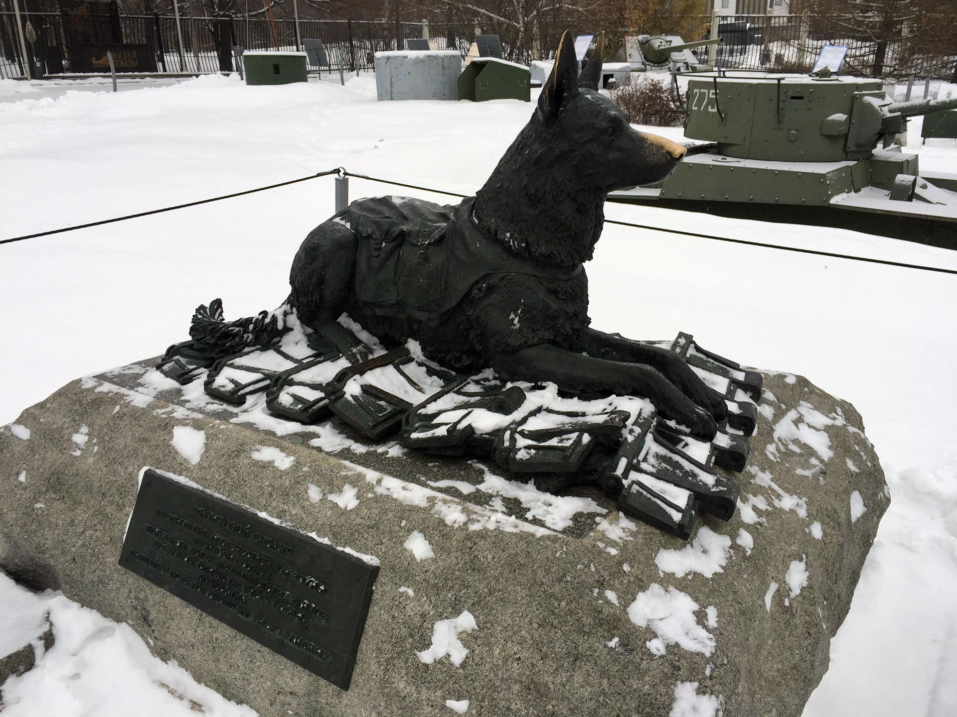 El monumento a los perros que participaron de la Segunda Guerra Mundial