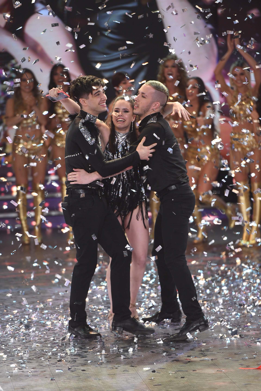 El festejo de los ganadores