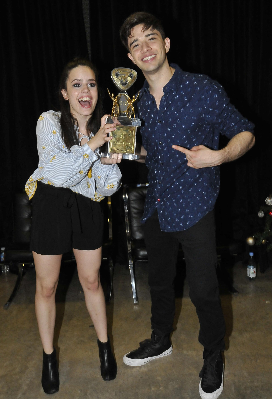 Julián y Sofí, orgullosos de ser campeones