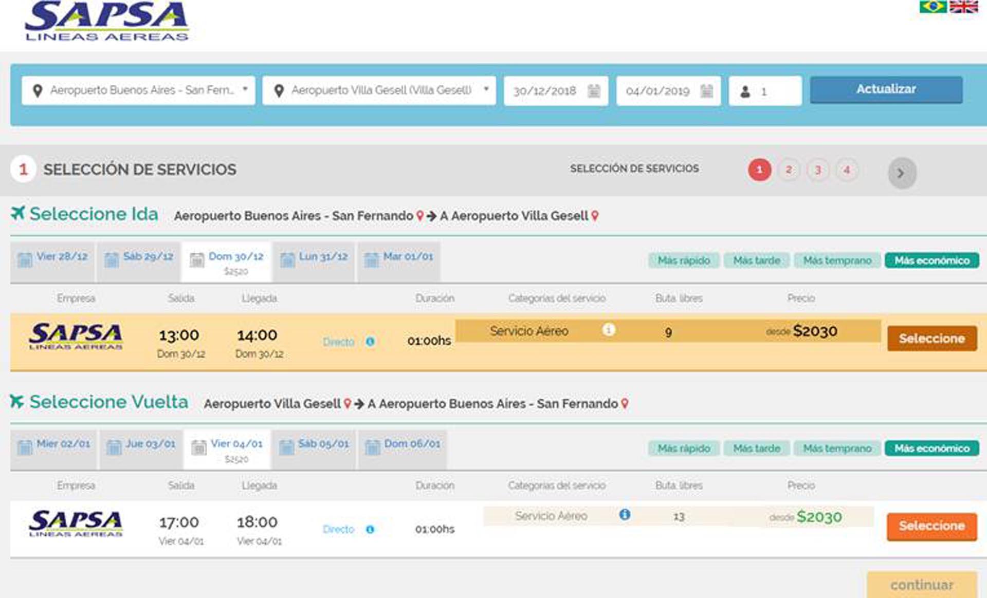 Se pueden comprar desde la plataforma Busplus.com.ar y Sapsa.com.ar