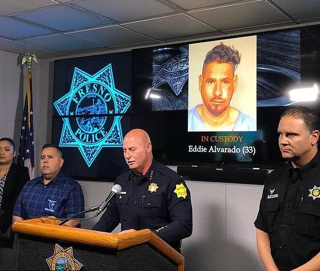El sheriff aseguró que si Alvarado hubiera reportado los hechos, habría evitado la detención (Foto: Fresno Police)
