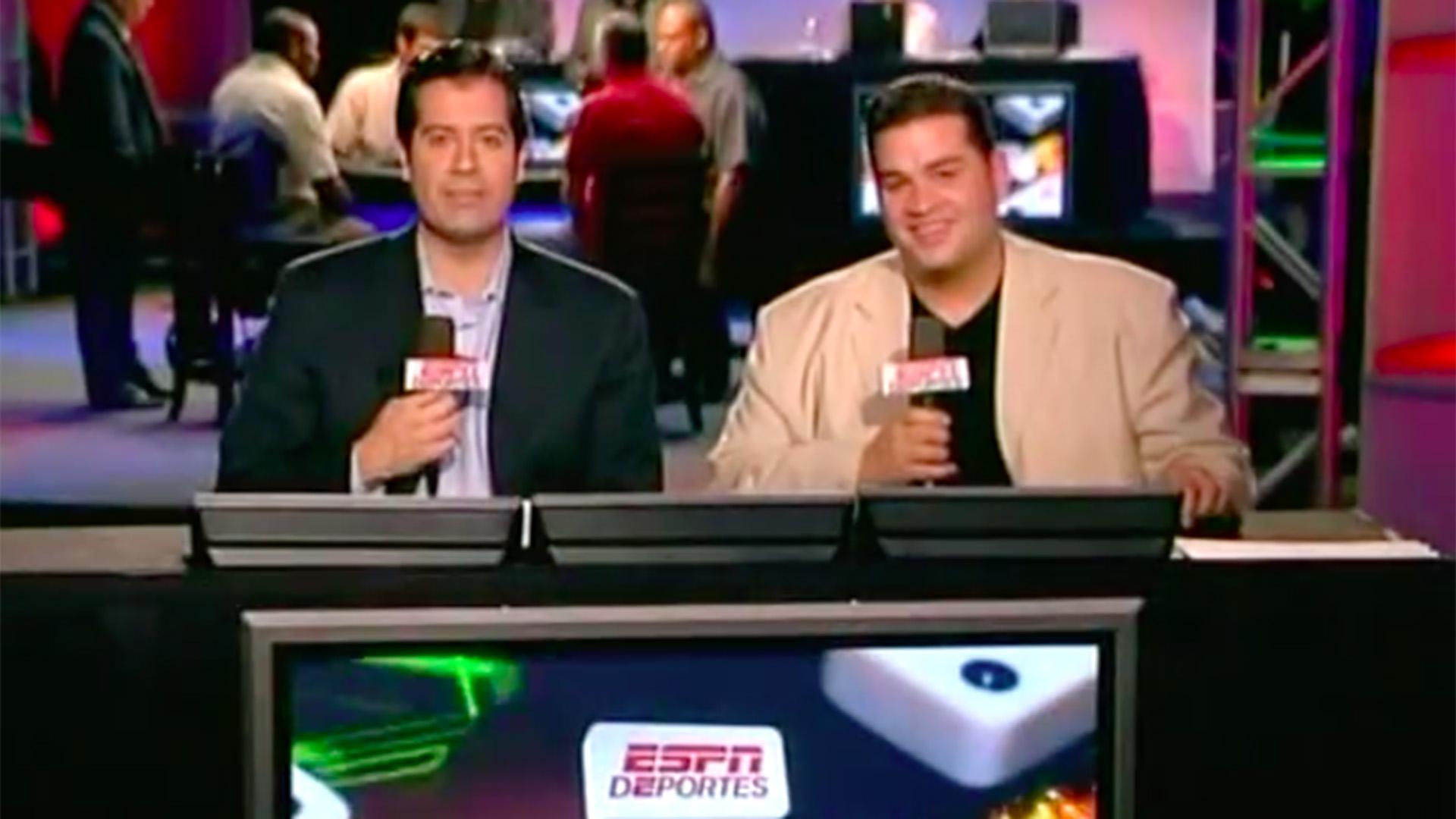 En 2005, en la primera transmisión que hizo ESPN del mundial de dominó