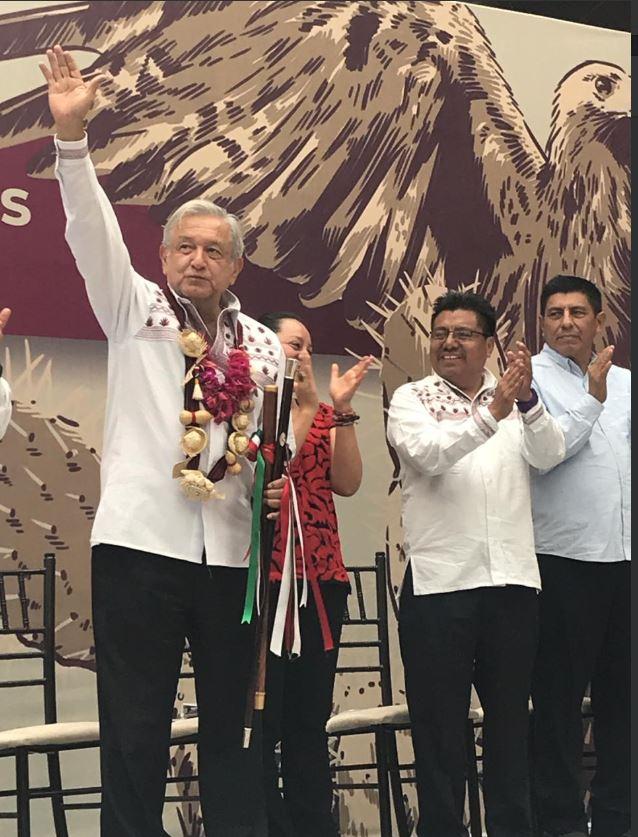 El presidente aseguró que respetaba los pronunciamientos del EZLN (Foto: Twitter INPI)