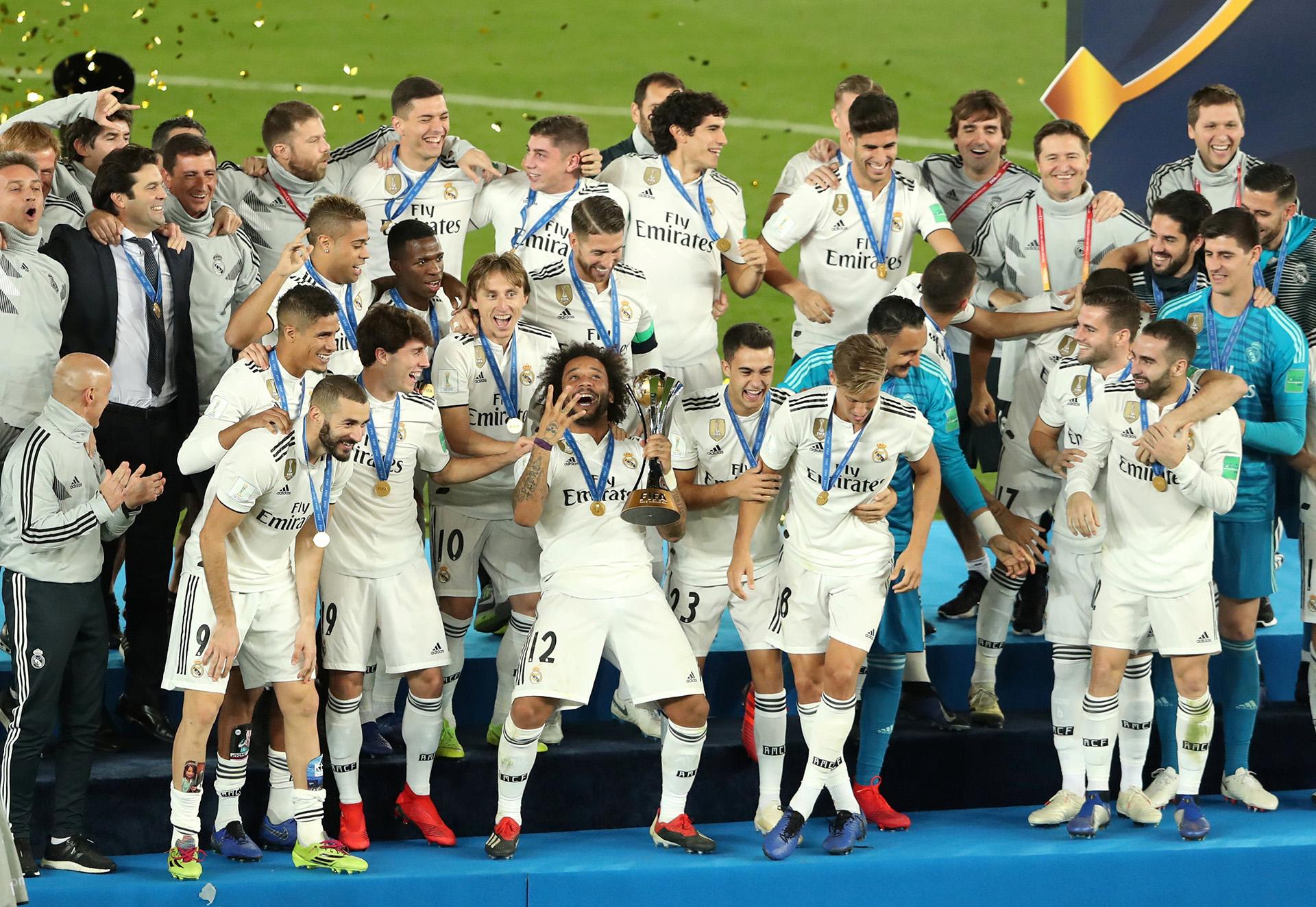 El Real Madrid hizo historia el 22 de diciembre al superar al club Al Ain por 4 a 1 en Abu Dhabi y ser el primer equipo en proclamarse campeón del Mundial de Clubes en tres años consecutivos