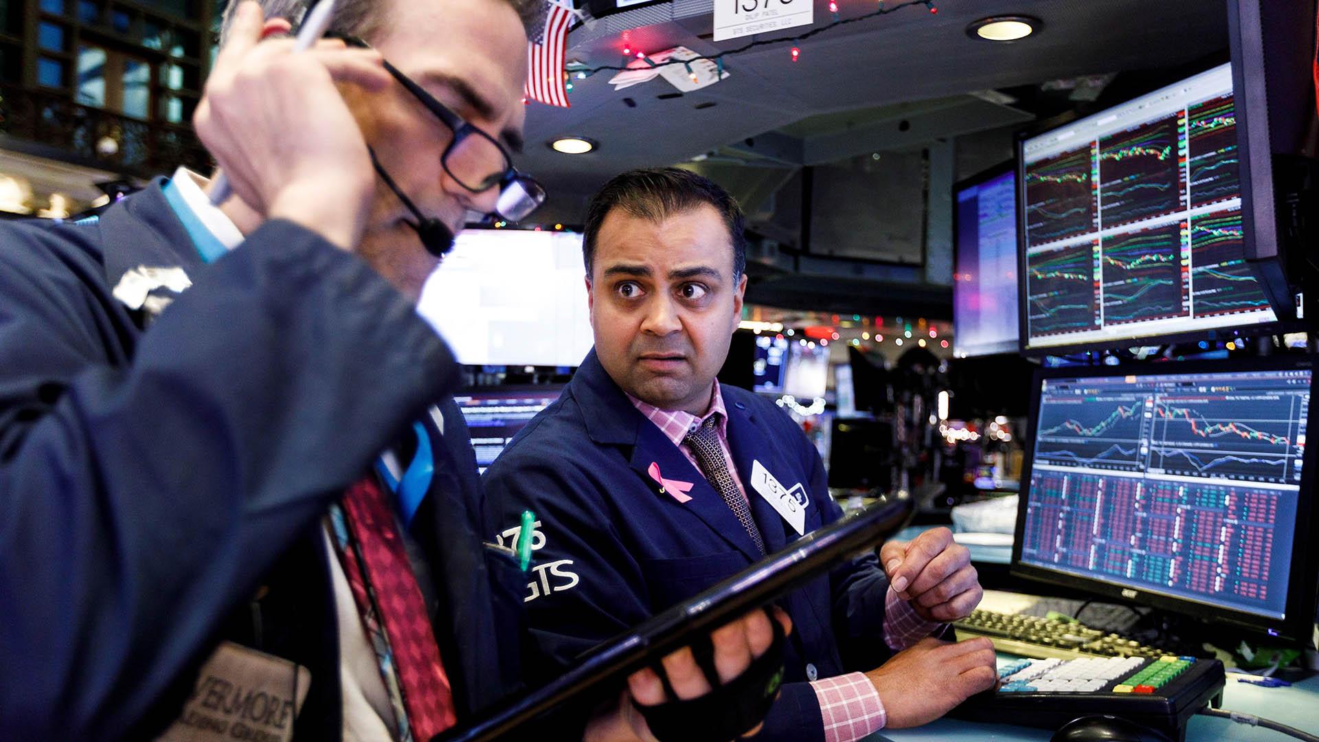Wall Street vivió un fin de año infartante (EFE)