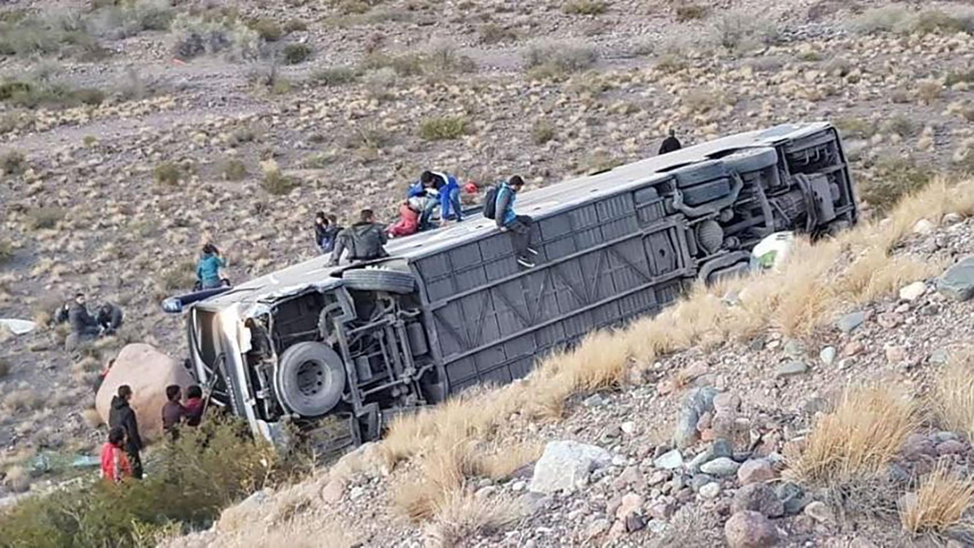 El accidente ocurrió en la ruta 7, a 4 km de Uspallata