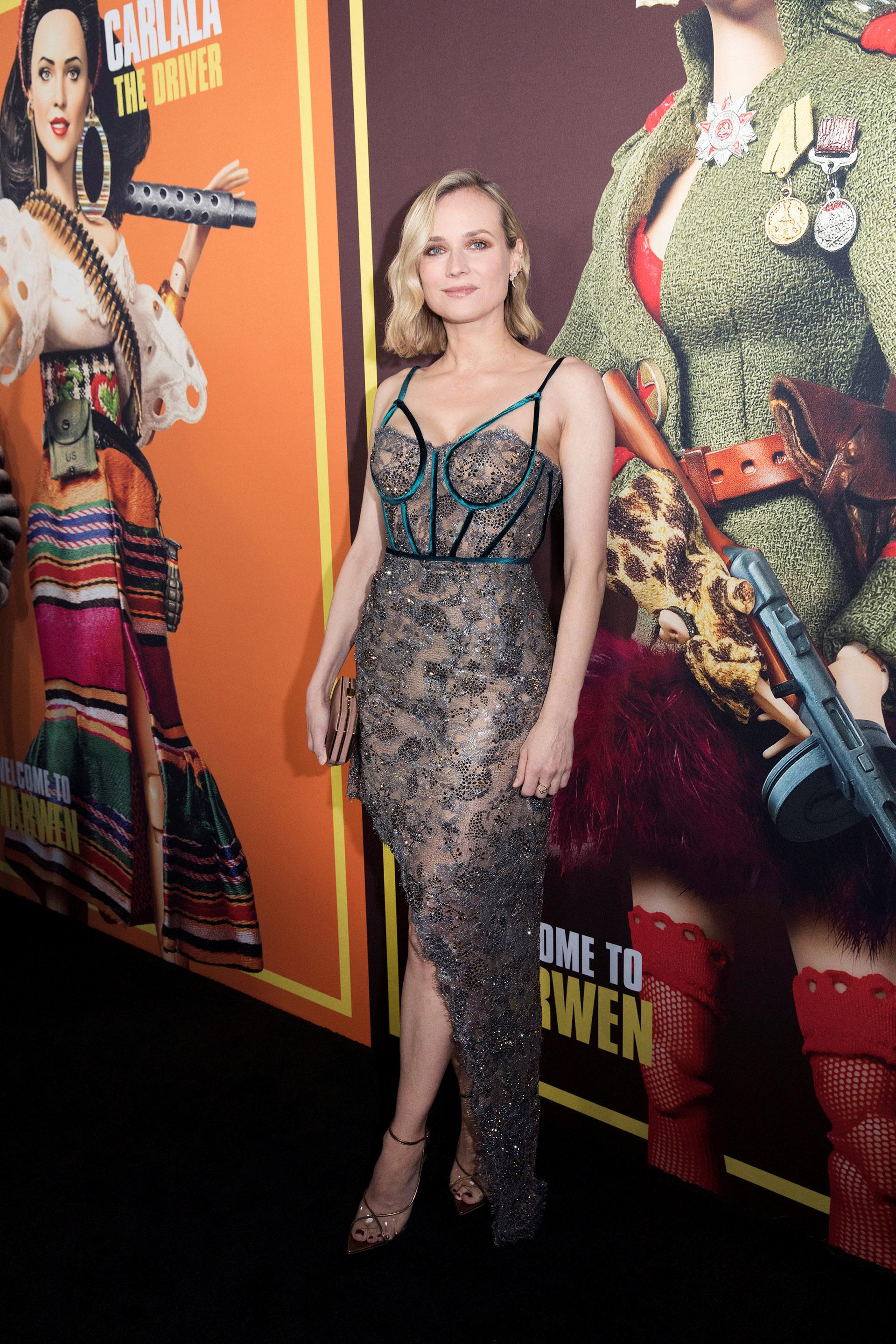 Diane Kruger y un osado vestido con transparencias