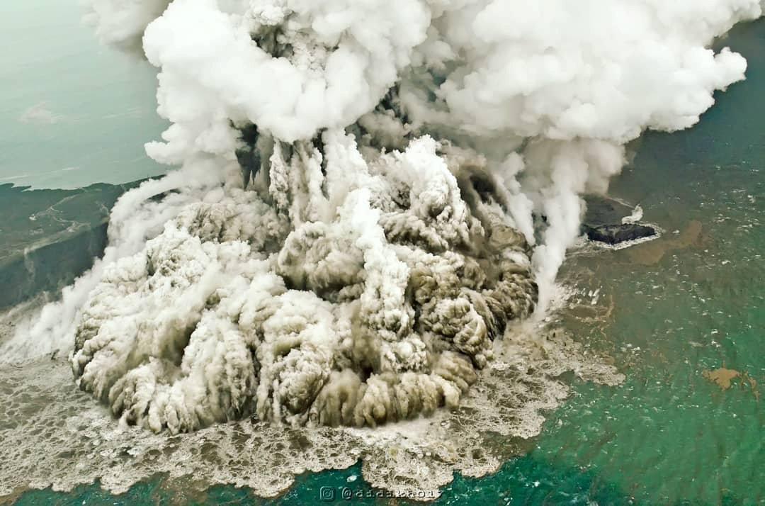 Las imágenes fueron captadas desde un vuelo de la empresa aérea Susi Air (Reuters)