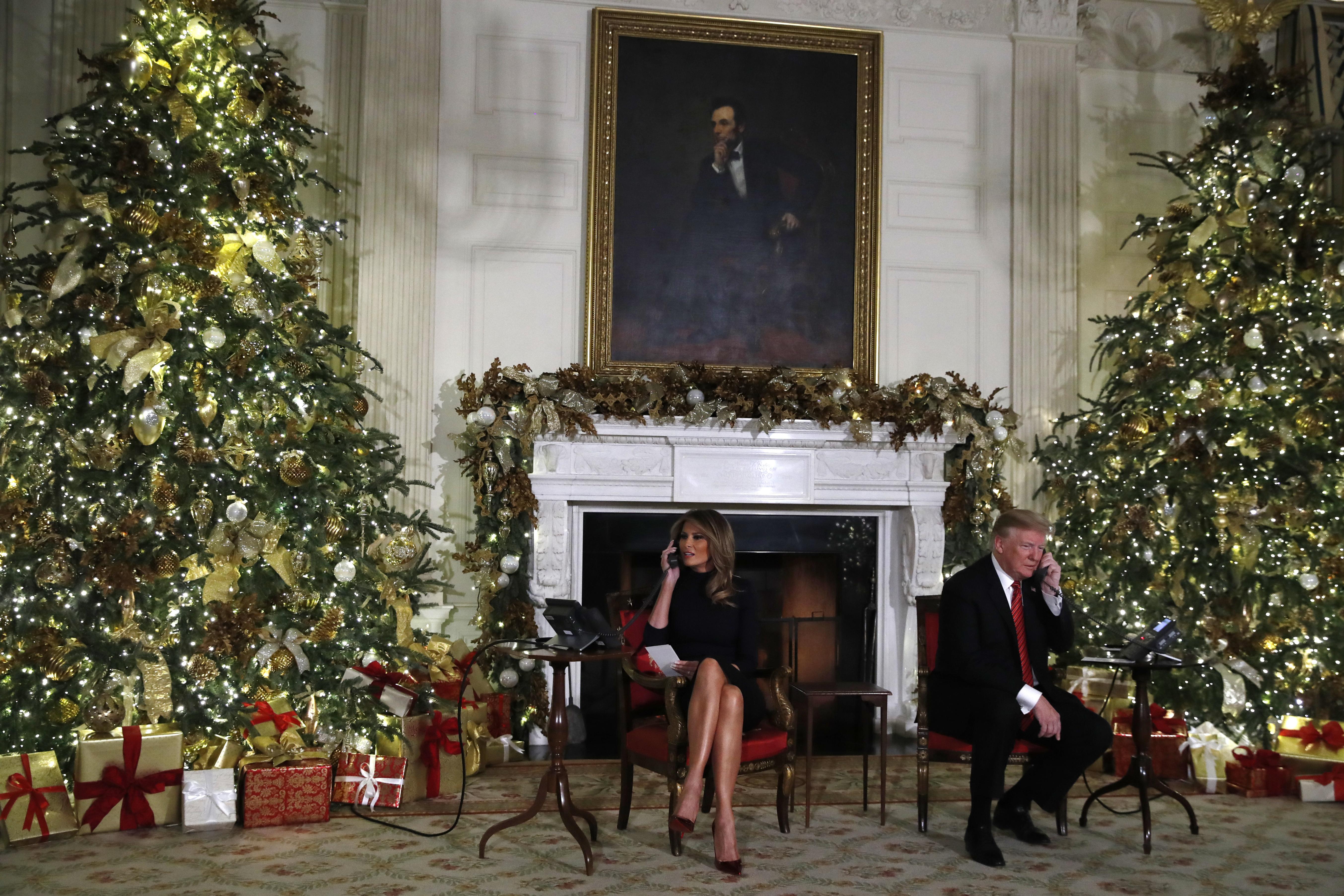 Donald Trump y Melania en la Casa Blanca. (AP Photo/Jacquelyn Martin)