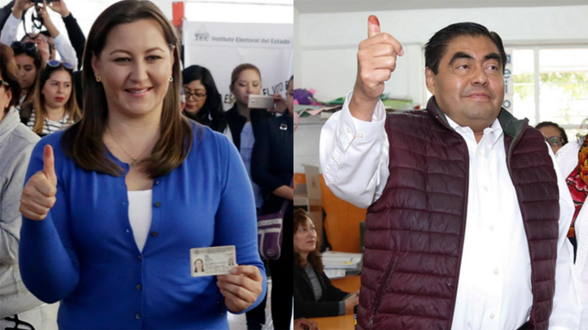 Martha Erika Alonso y Luis Miguel Barbosa, en la elección de julio pasado. (Foto:Archivo Especial)