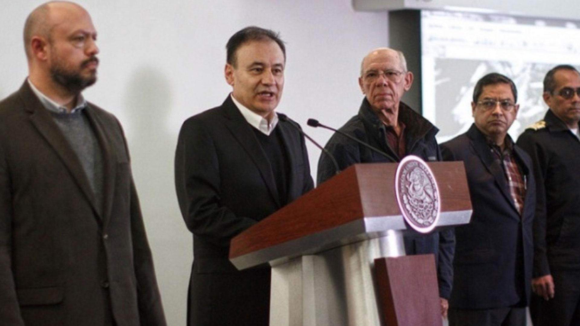 Alfonso Durazo informó sobre las investigaciones de la Secretaría de Marina (Foto: Cuartoscuro)