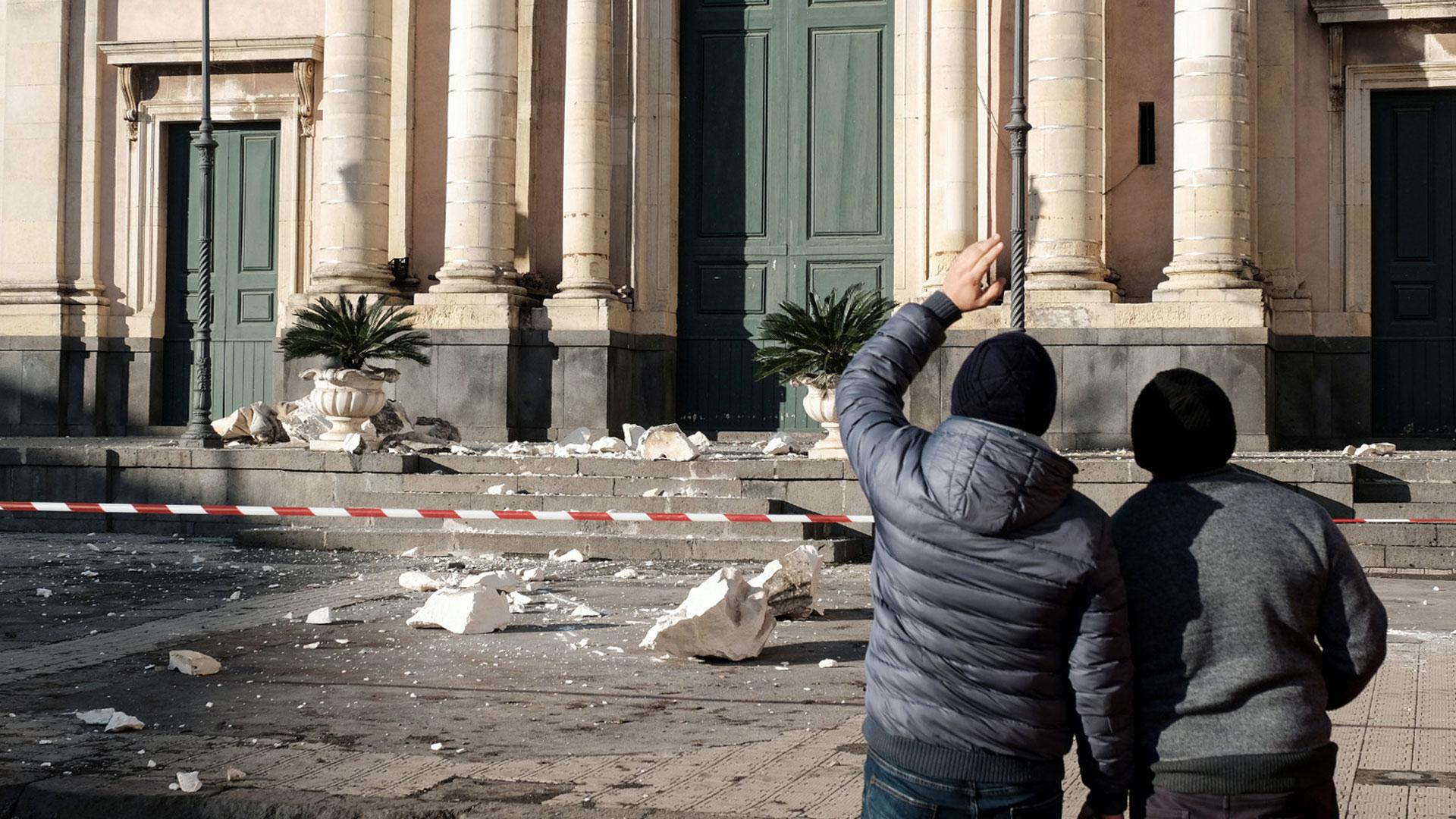 El epicentro fue al norte de la ciudad de Catania (AFP)