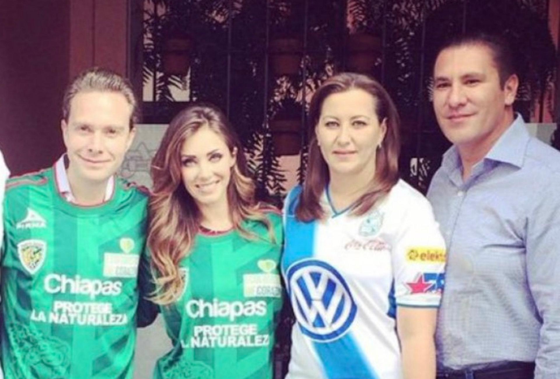 """Anahí llamó """"amigos queridos"""" a Moreno Valle y Martha Erika. (Foto: Twitter, Anahí)"""