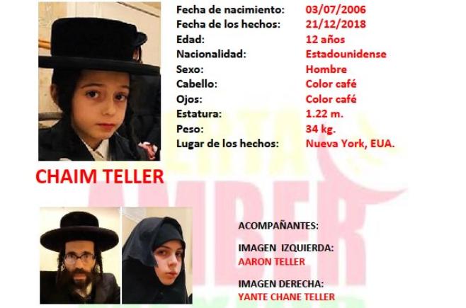 Ficha de alerta amber de adolescentes judíos buscados en México (Foto: captura de pantalla)