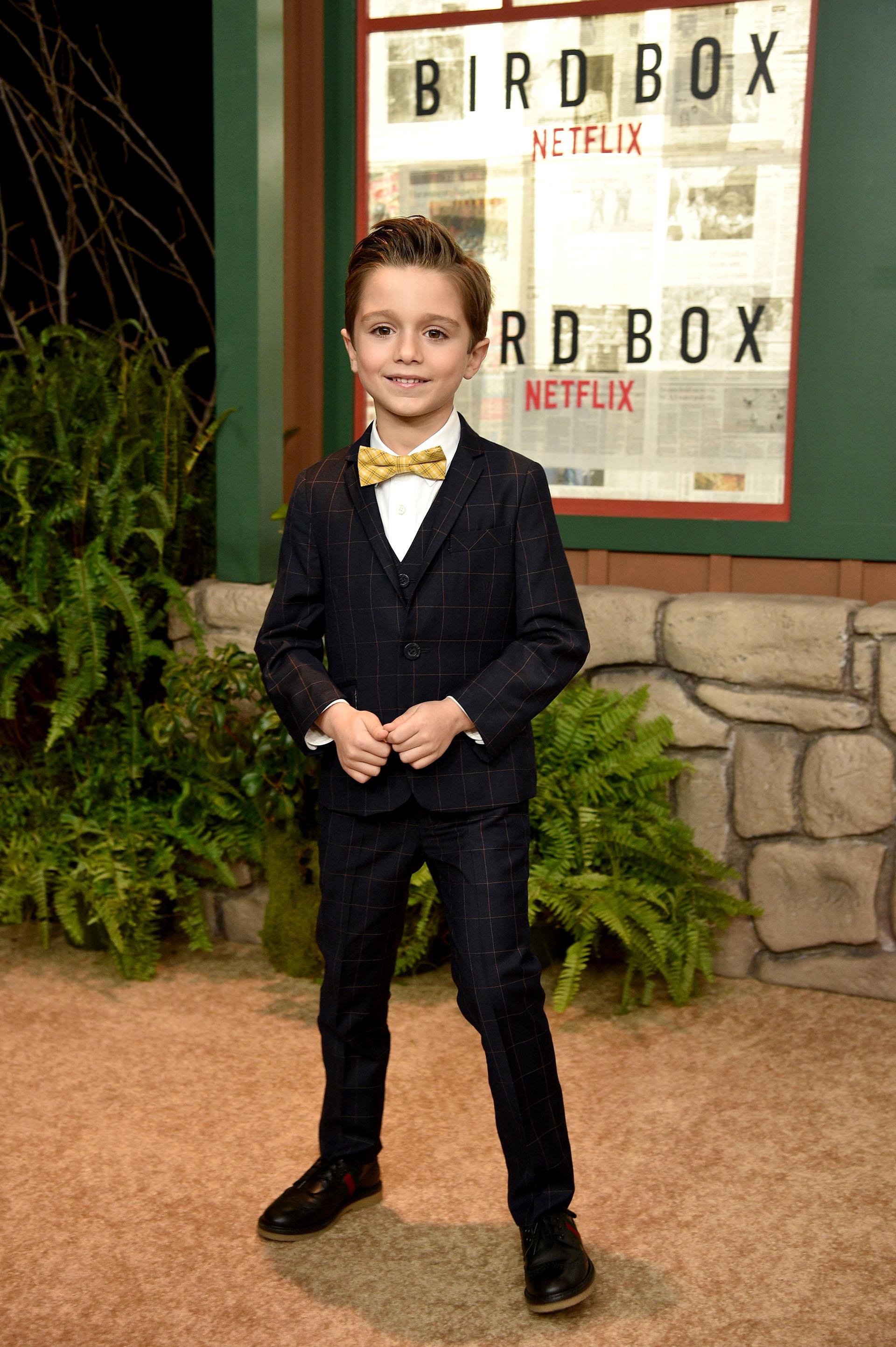 El pequeño actor Julian Edwards